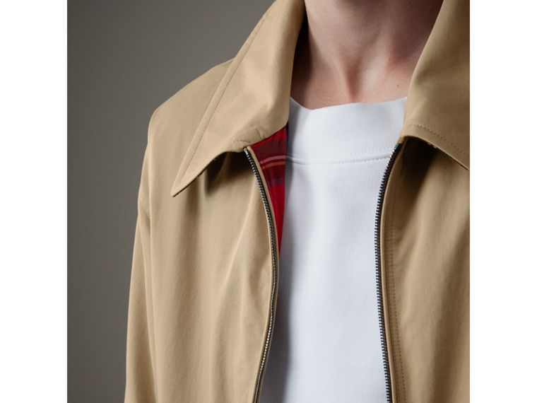 Tropical Gabardine Harrington Jacket in Honey - Men | Burberry United Kingdom - cell image 1