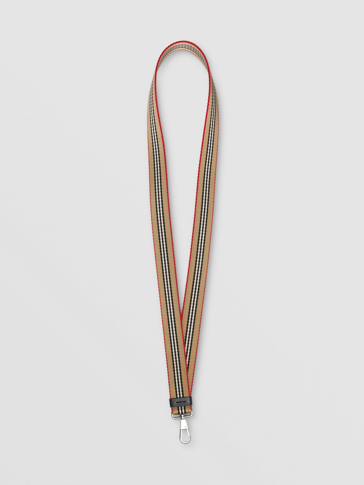 Icon Stripe Lanyard in Archive Beige