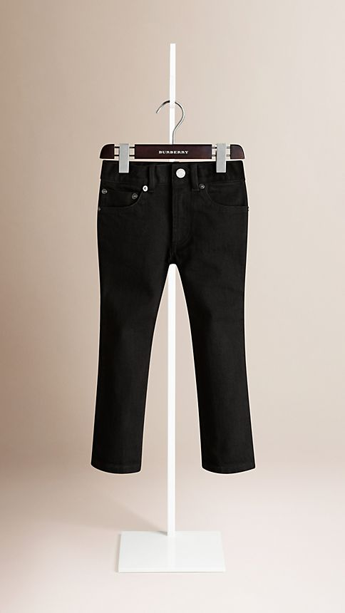Black Skinny Fit Jeans - Image 1