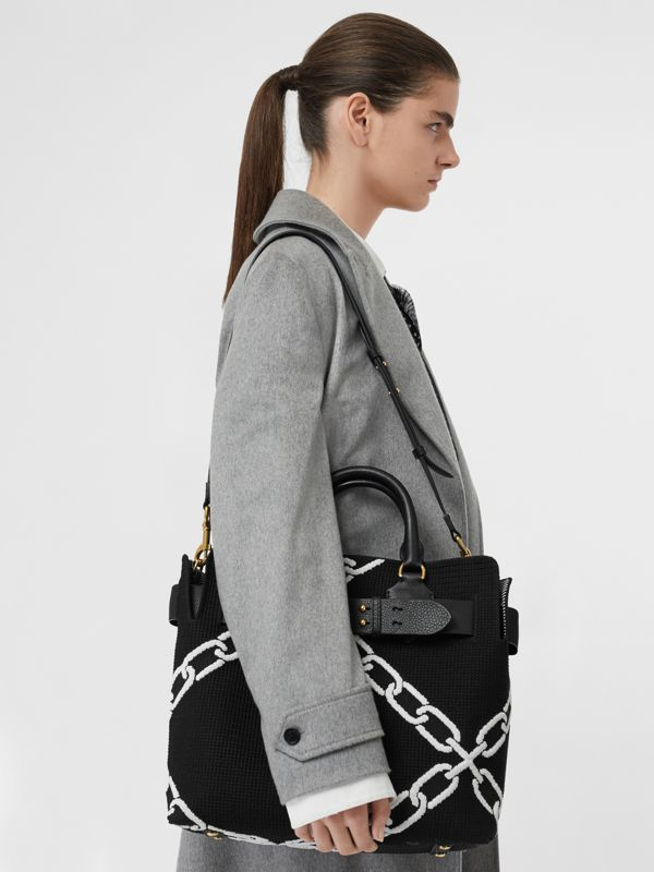 The Medium Knitted Link Belt Bag in Black - Women | Burberry - cell image 3