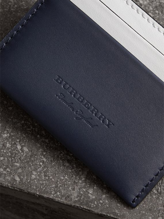 Two-tone Leather Card Case in Mid Indigo | Burberry United States - cell image 3
