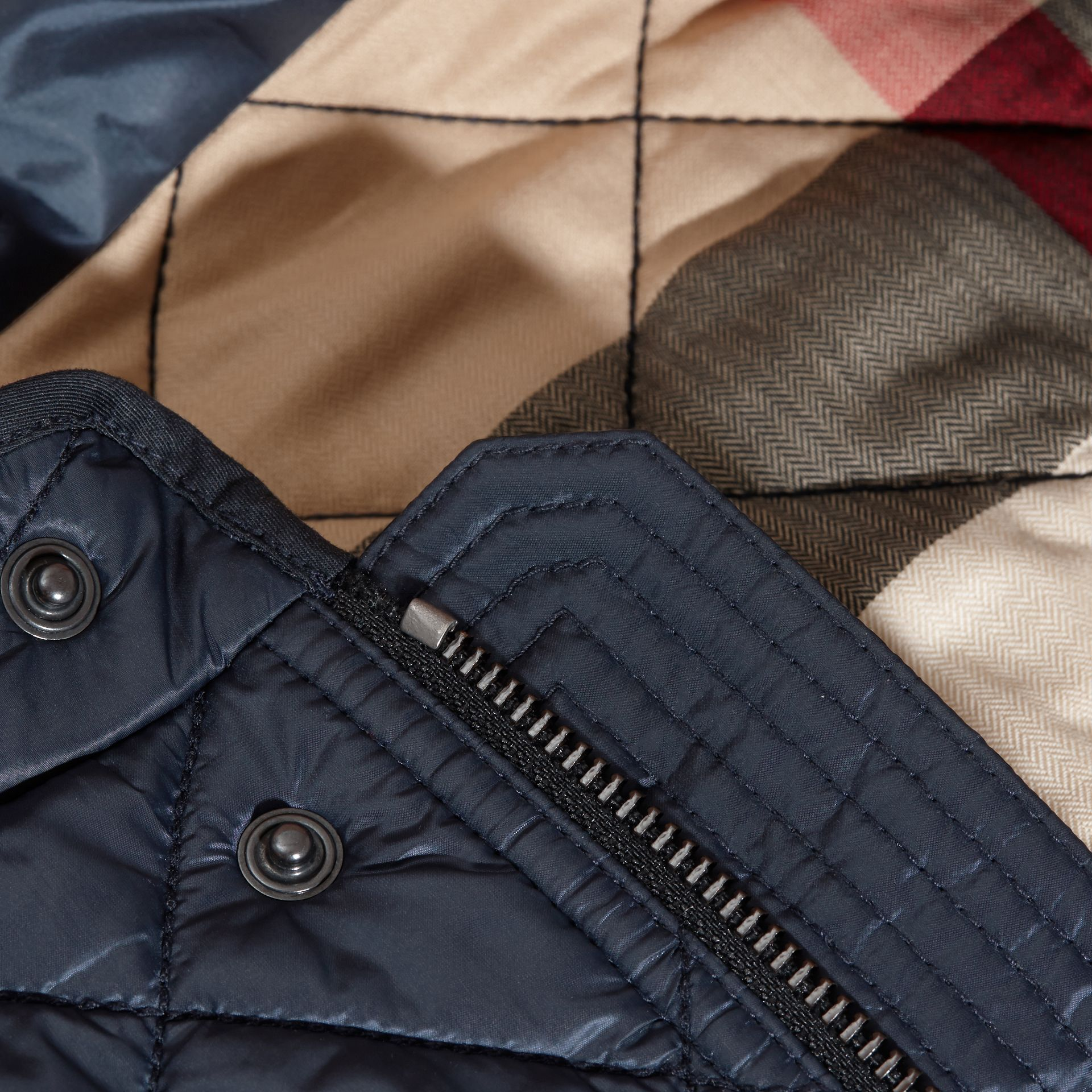 Ink blue Lightweight Quilted Bomber Jacket - gallery image 2
