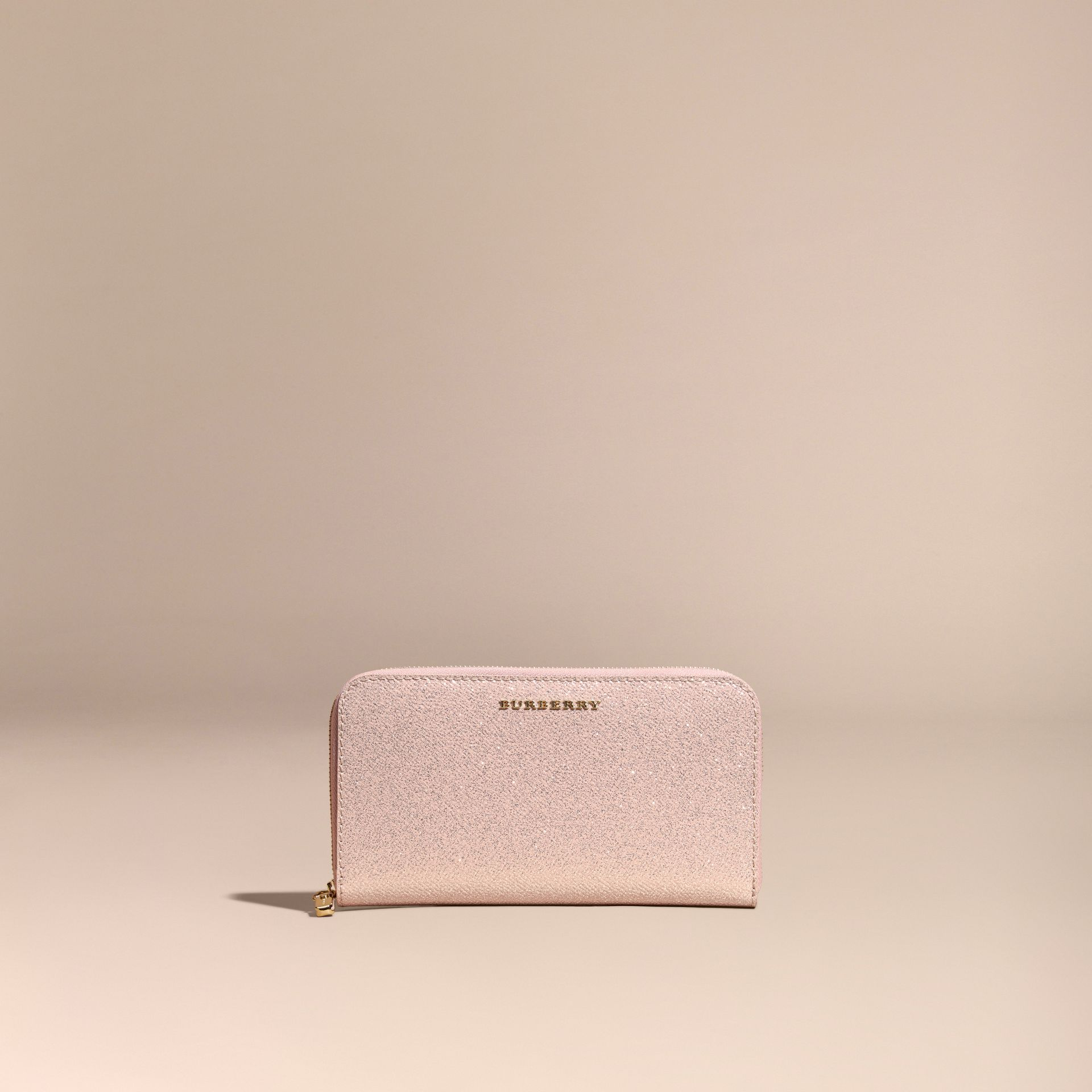 Glitter Patent London Leather Ziparound Wallet in Pale Orchid - gallery image 6