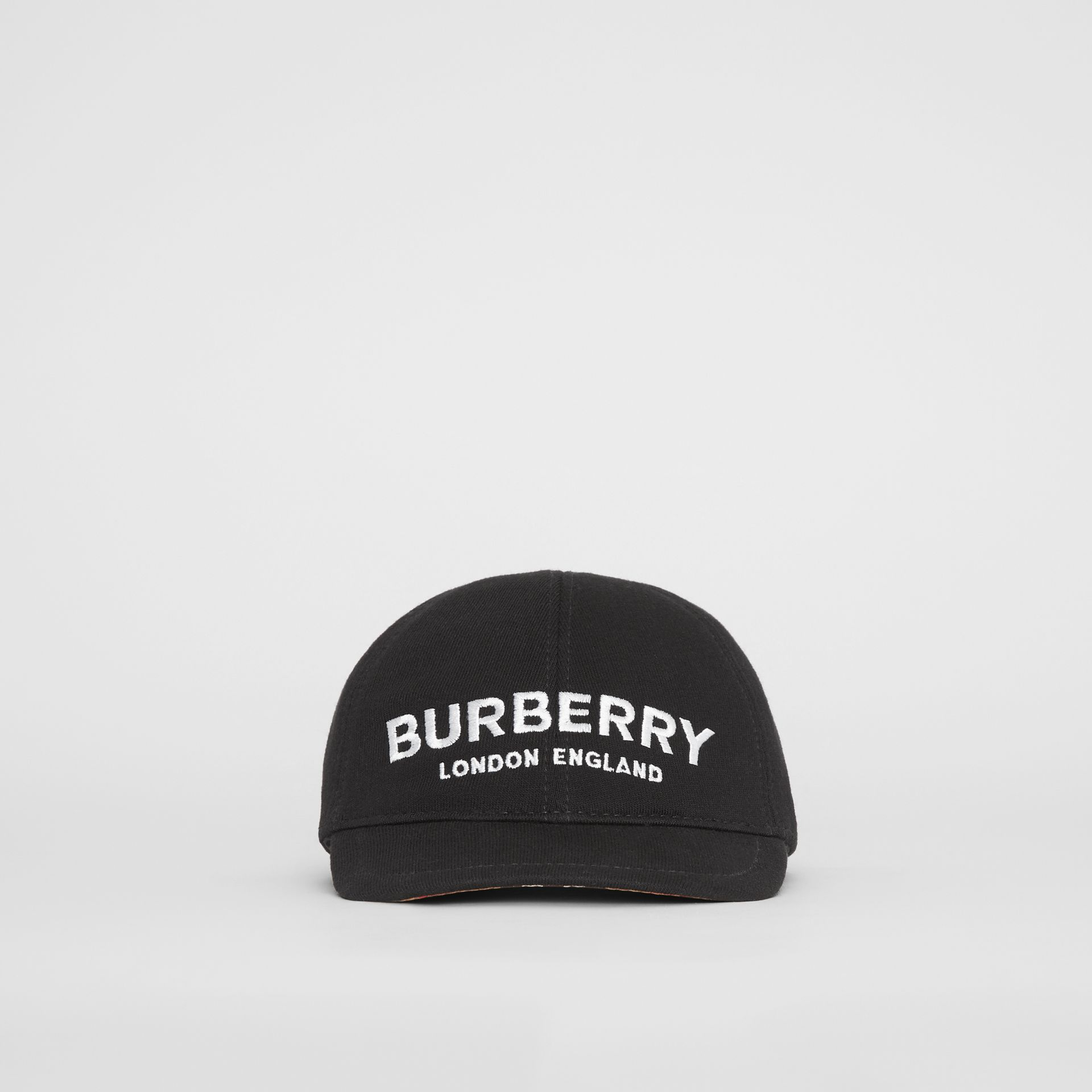 Embroidered Logo Baseball Cap in Black - Children | Burberry United Kingdom - gallery image 0
