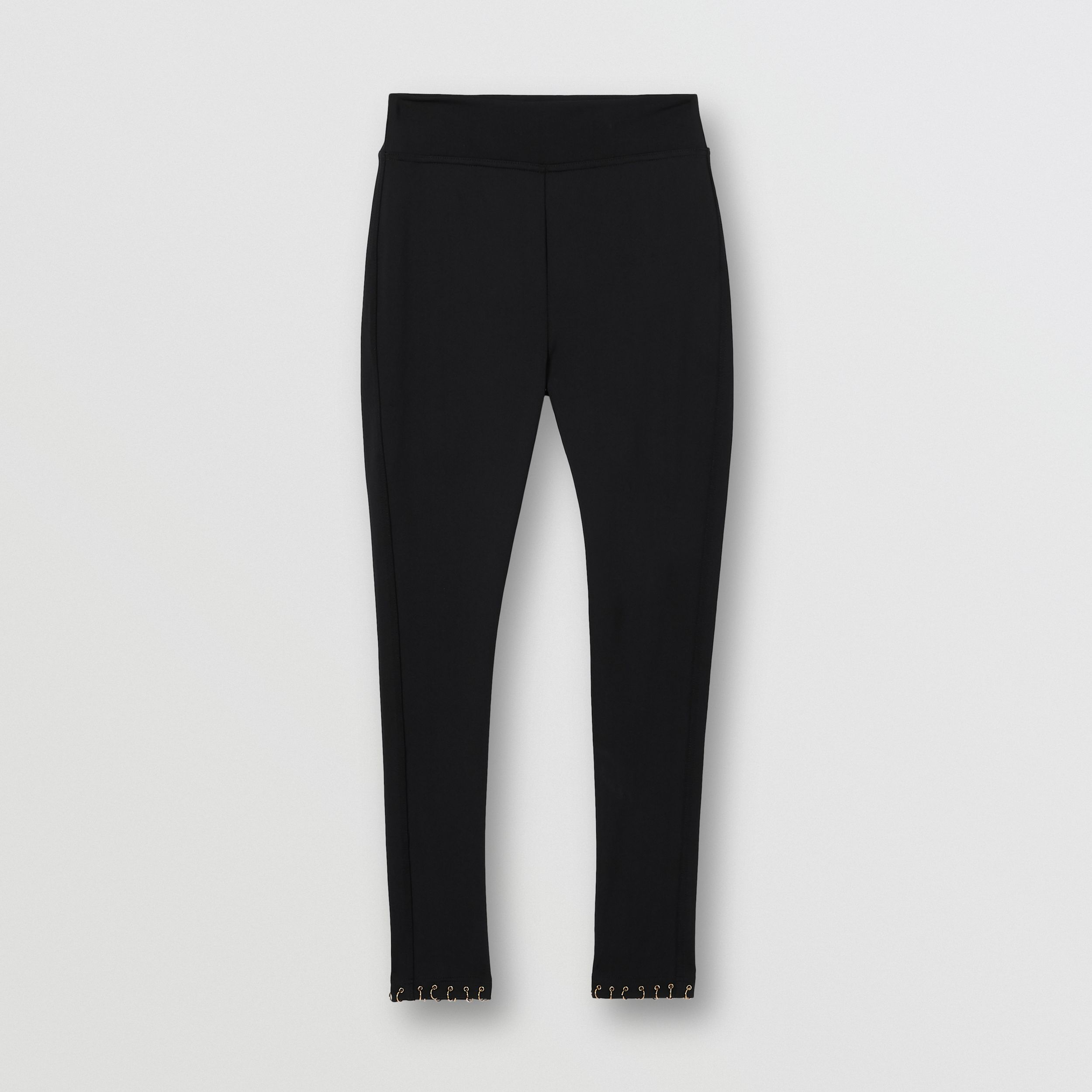Ring-pierced Stretch Jersey Leggings in Black - Women | Burberry United States - 4