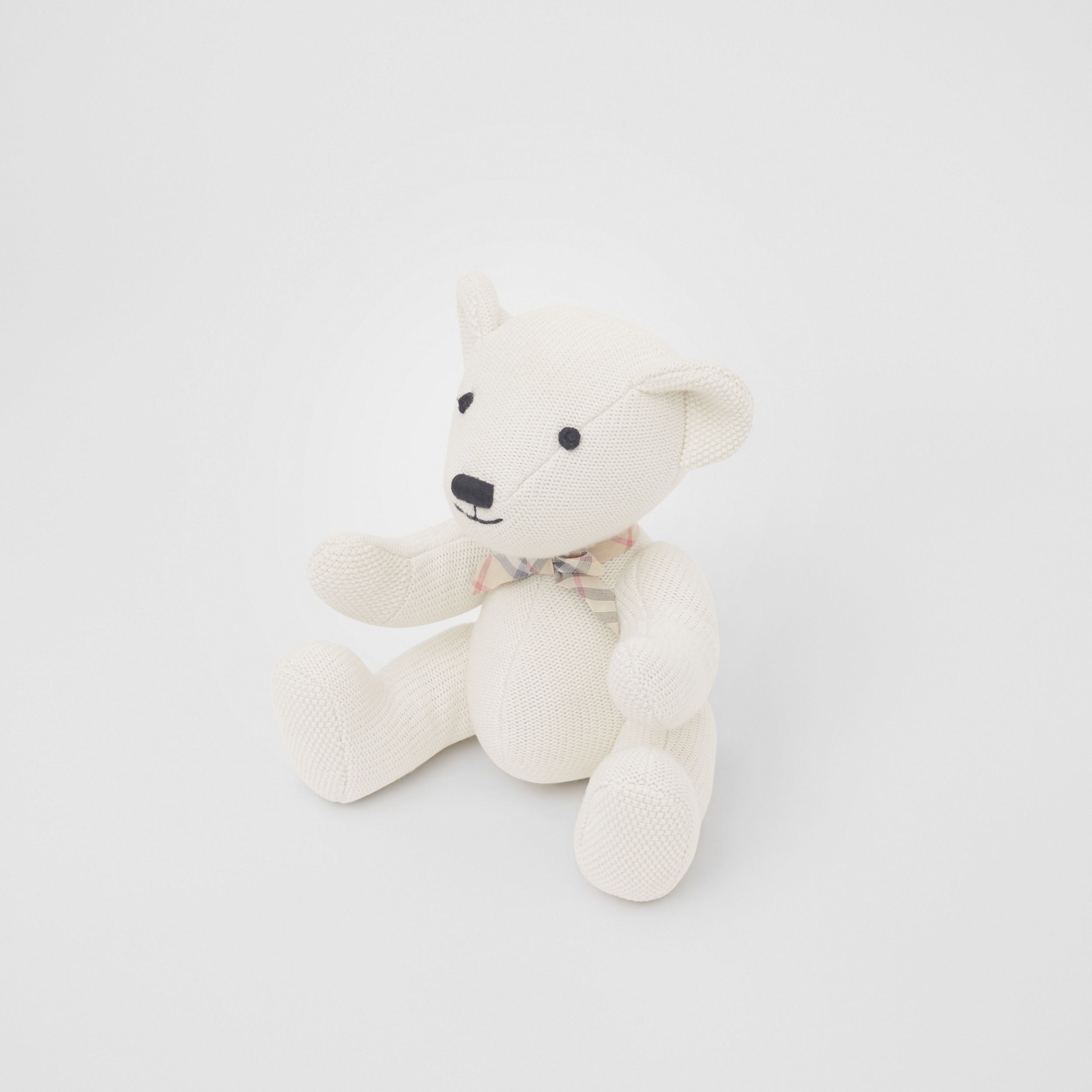 Cotton Cashmere Thomas Bear in Ivory - Children | Burberry United Kingdom - 3