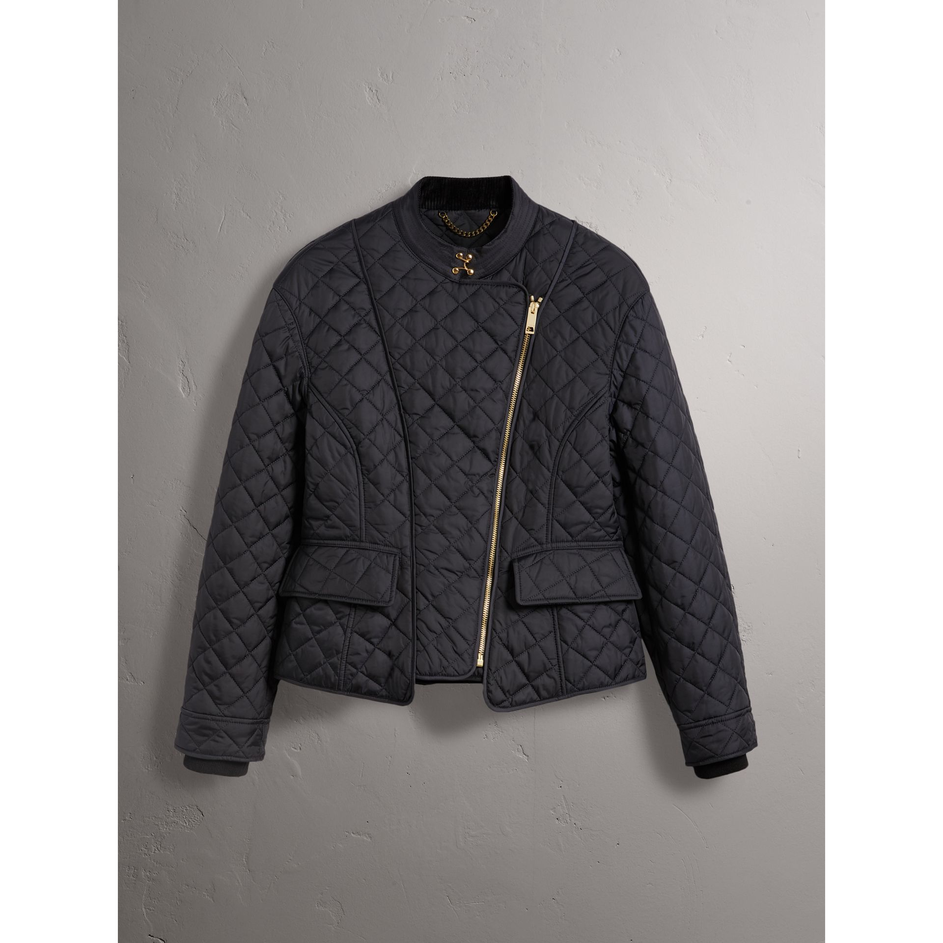 Diamond Quilted Jacket in Navy - Women | Burberry - gallery image 3
