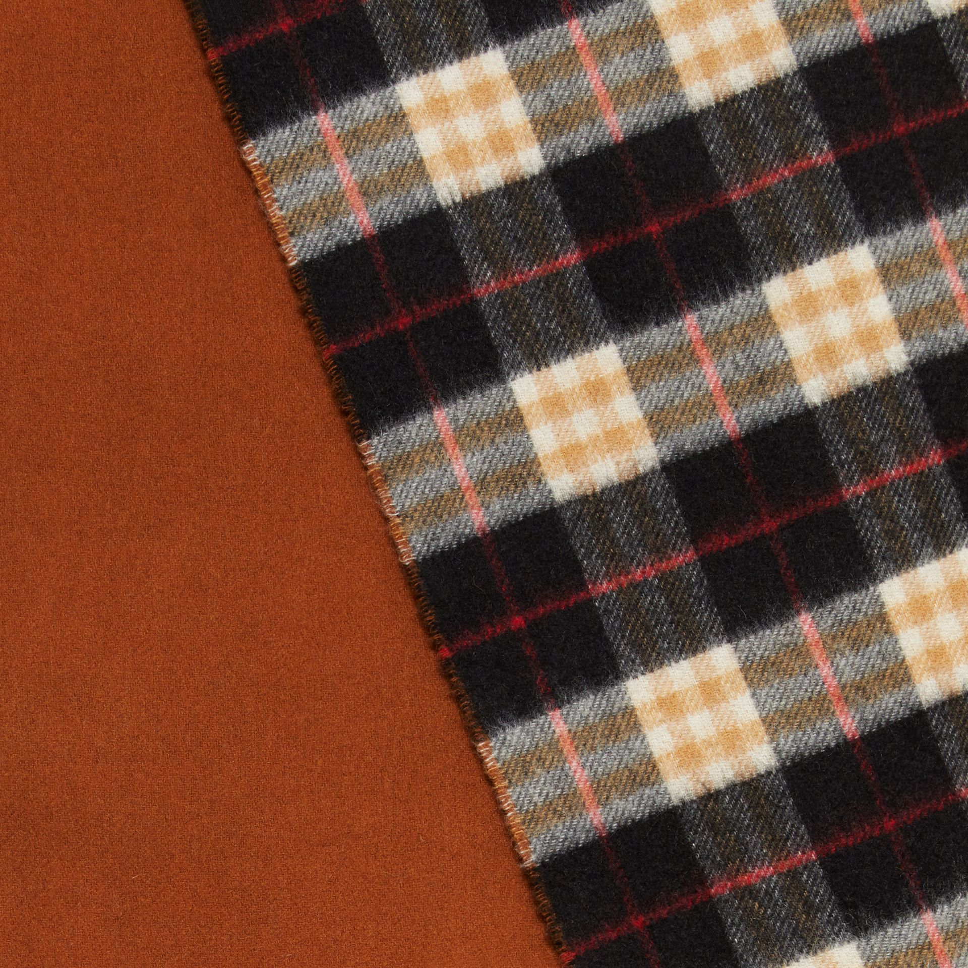 Colour Block Vintage Check Cashmere Scarf in Toffee | Burberry - gallery image 1