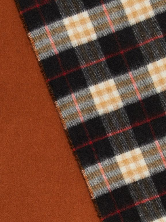 Colour Block Vintage Check Cashmere Scarf in Toffee | Burberry - cell image 1