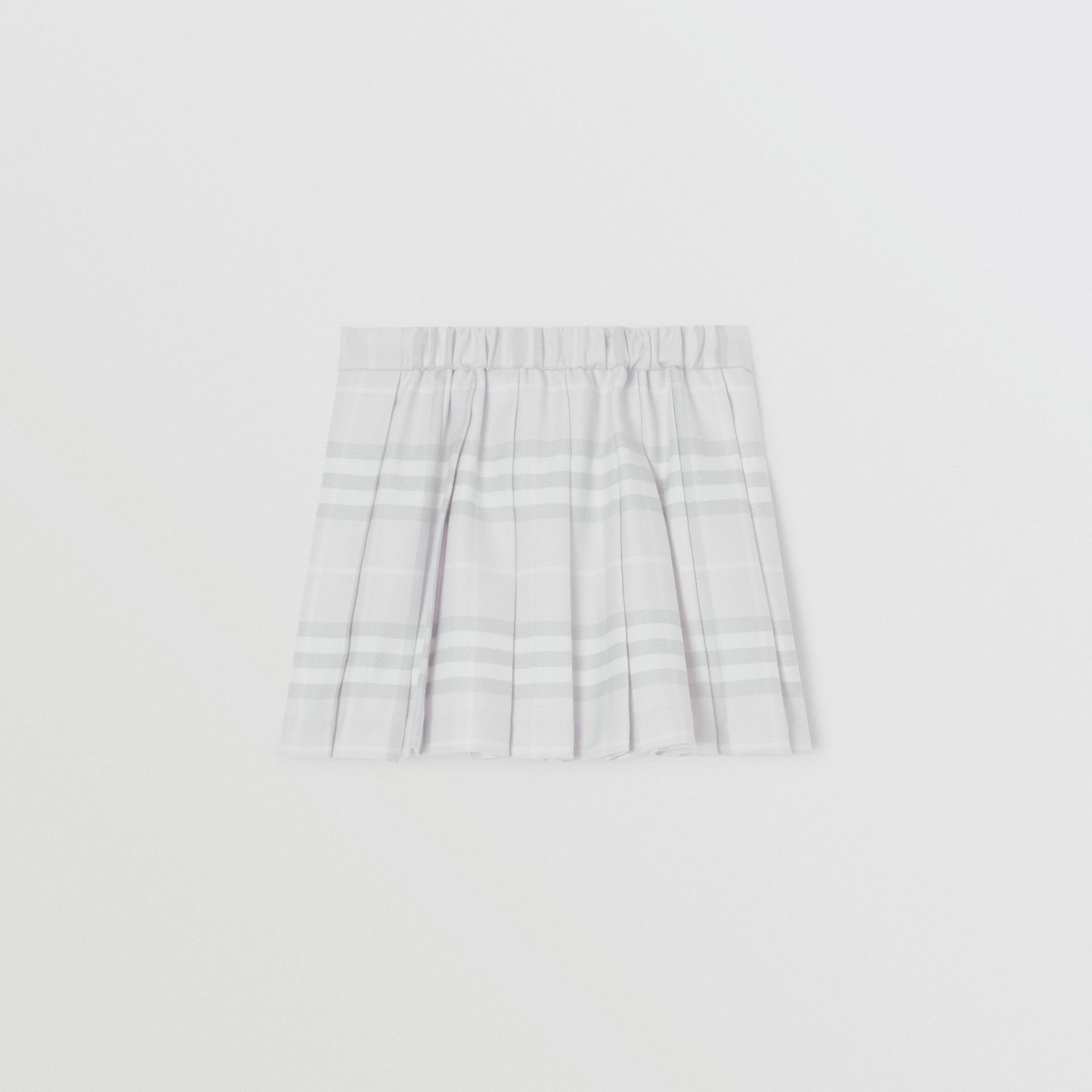 Vintage Check Wool Pleated Wrap Skirt in Pale Grey - Children | Burberry United Kingdom - gallery image 3
