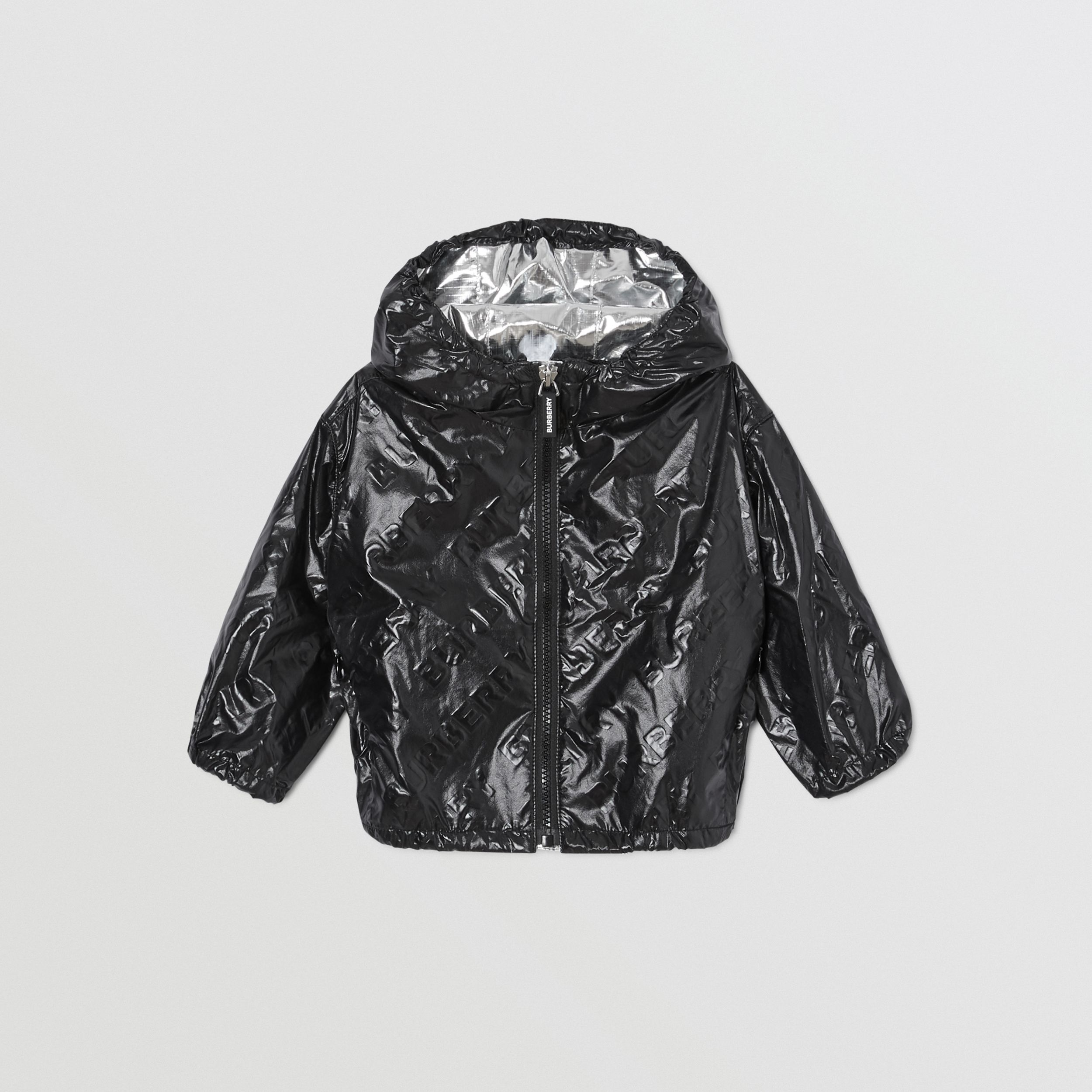 Logo Print Lightweight Hooded Jacket in Black - Children | Burberry - 1