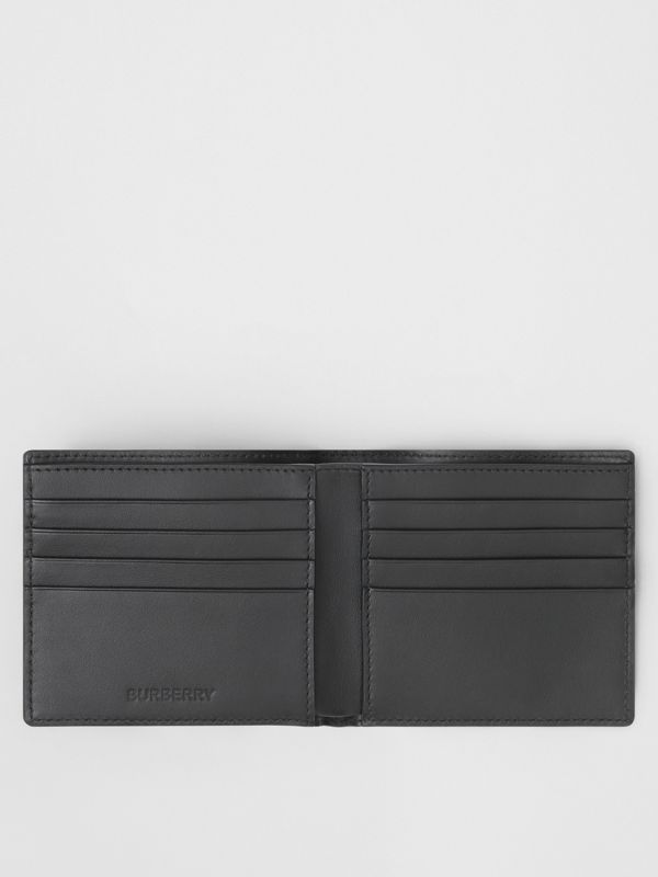 Vintage Check E-canvas International Bifold Wallet in Archive Beige - Men | Burberry United Kingdom - cell image 2