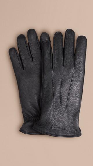 Fur Lined Deerskin Gloves