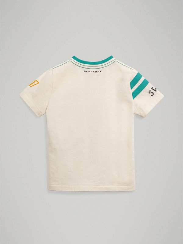 Adventure Motif Cotton T-shirt in White | Burberry - cell image 3