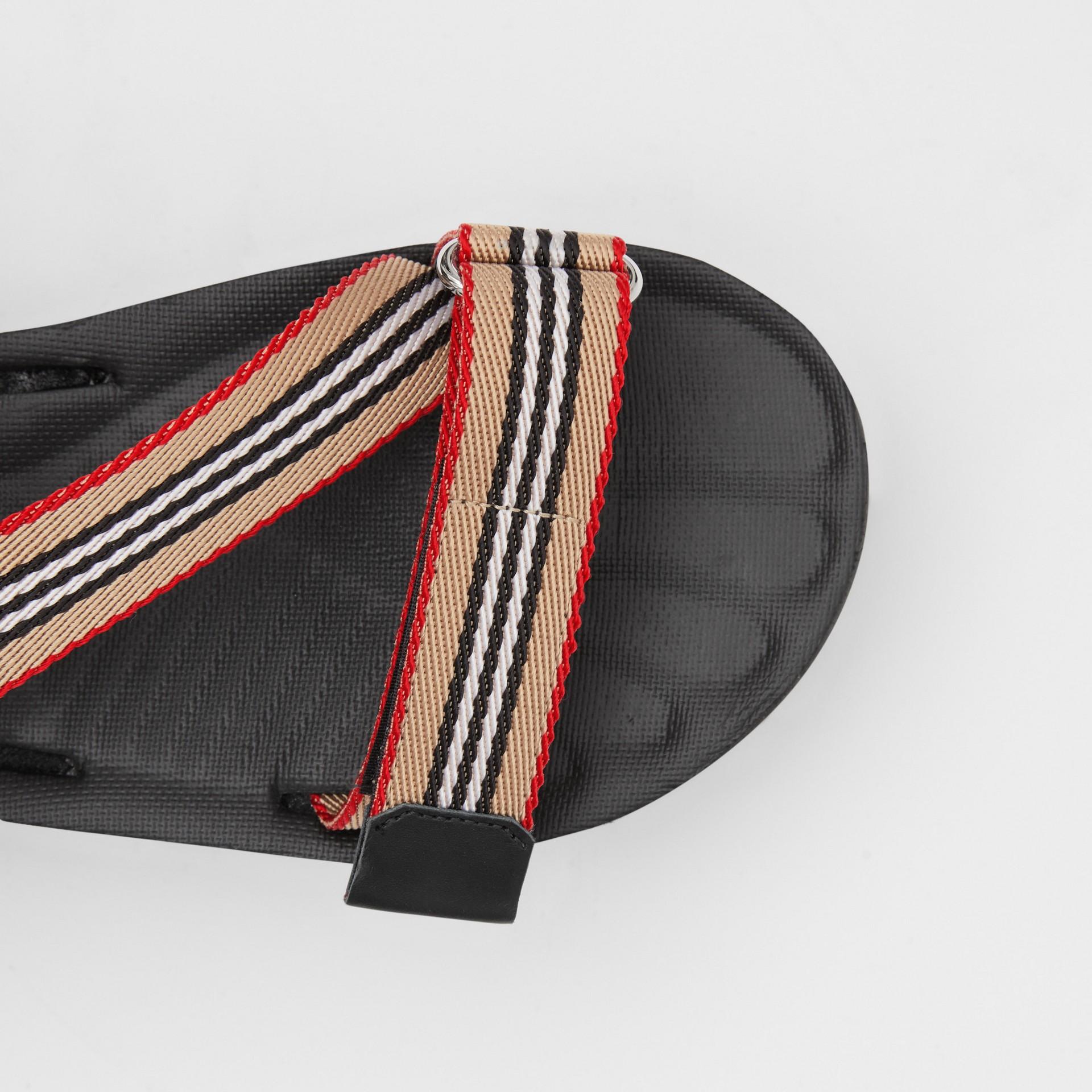 Icon Stripe Sandals in Archive Beige - Women | Burberry United Kingdom - gallery image 1