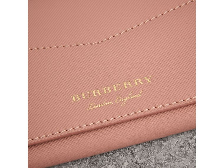Trench Leather Envelope Wallet in Ash Rose/pale Clementine - Women | Burberry Singapore - cell image 1