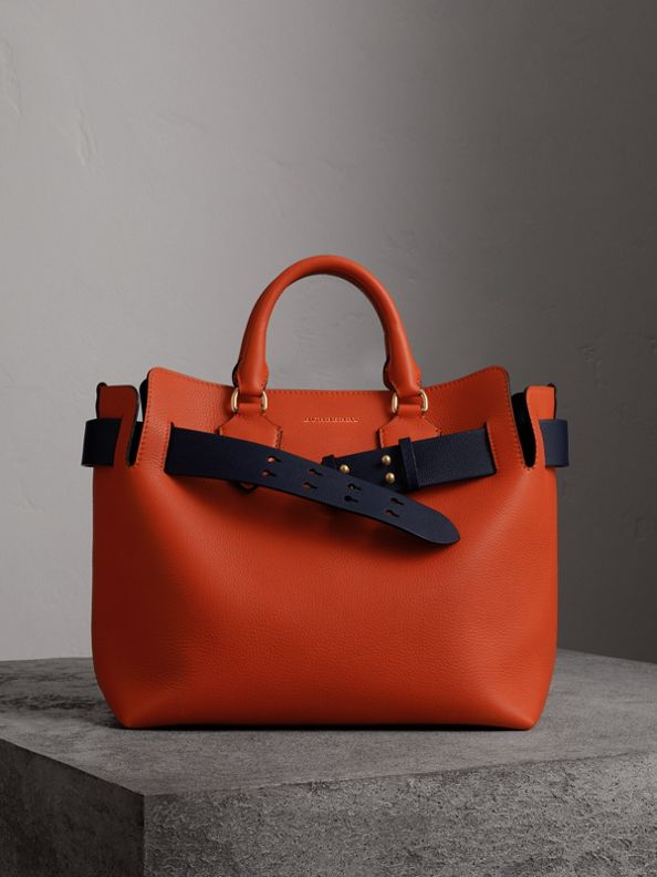 The Medium Leather Belt Bag in Clementine