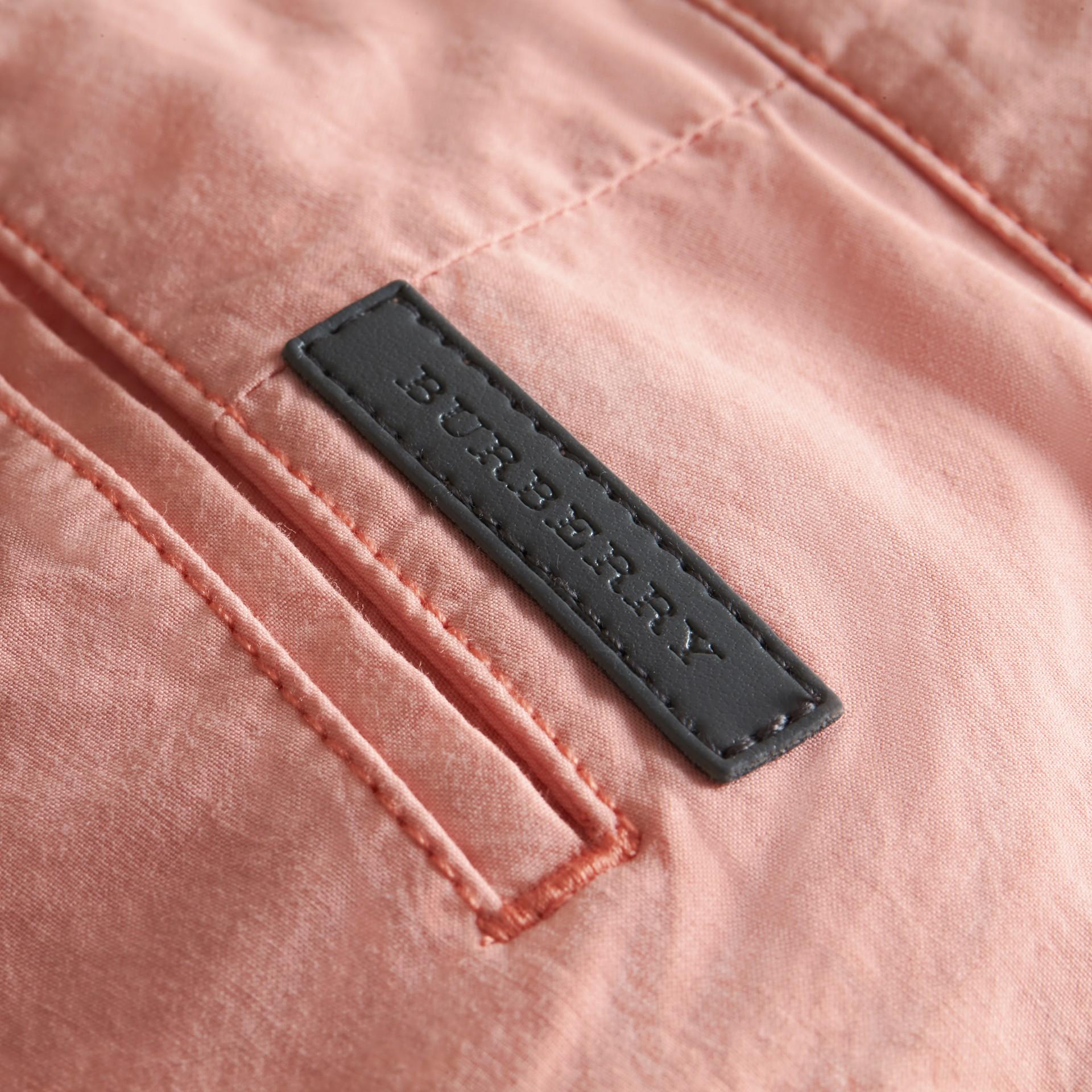 Cotton Poplin Chino Shorts Apricot Pink - gallery image 2