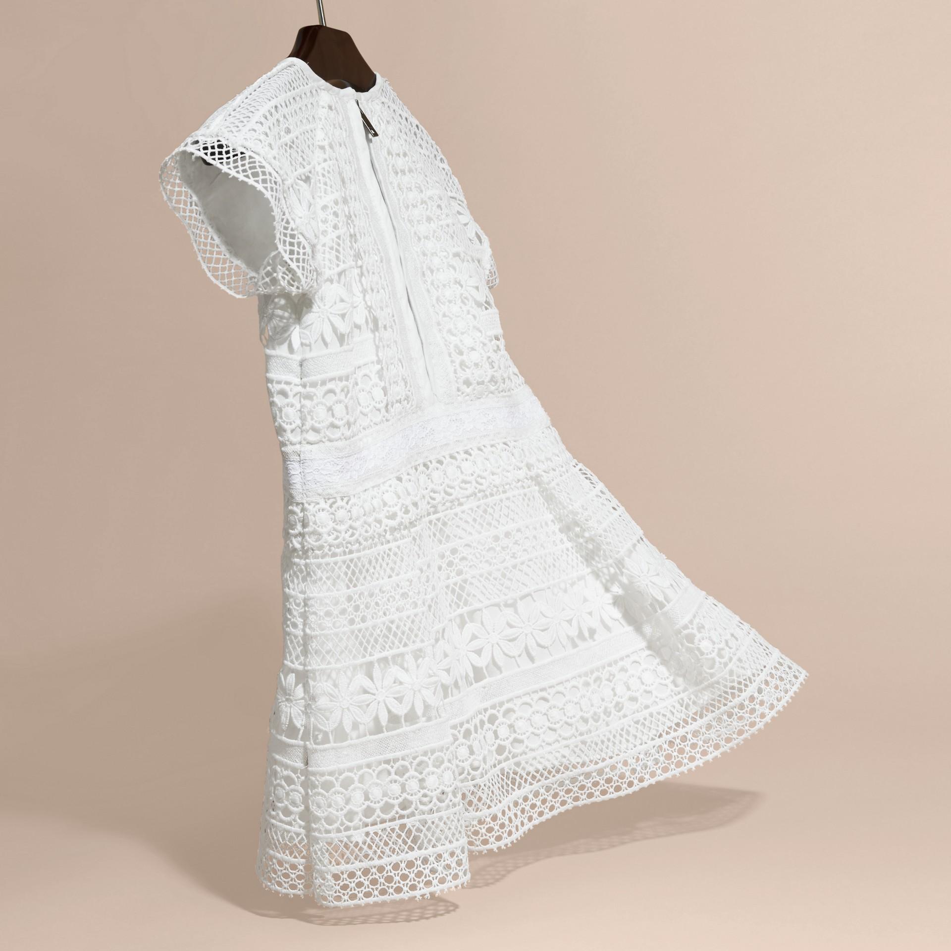 Macramé Lace Dropped-waist Dress - gallery image 4