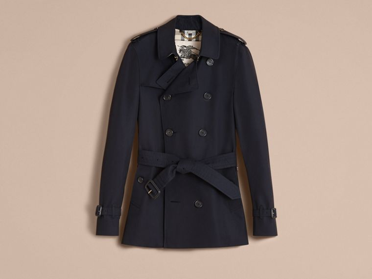 Navy The Sandringham – Short Heritage Trench Coat Navy - cell image 4