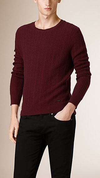 Aran Knit Cashmere Sweater
