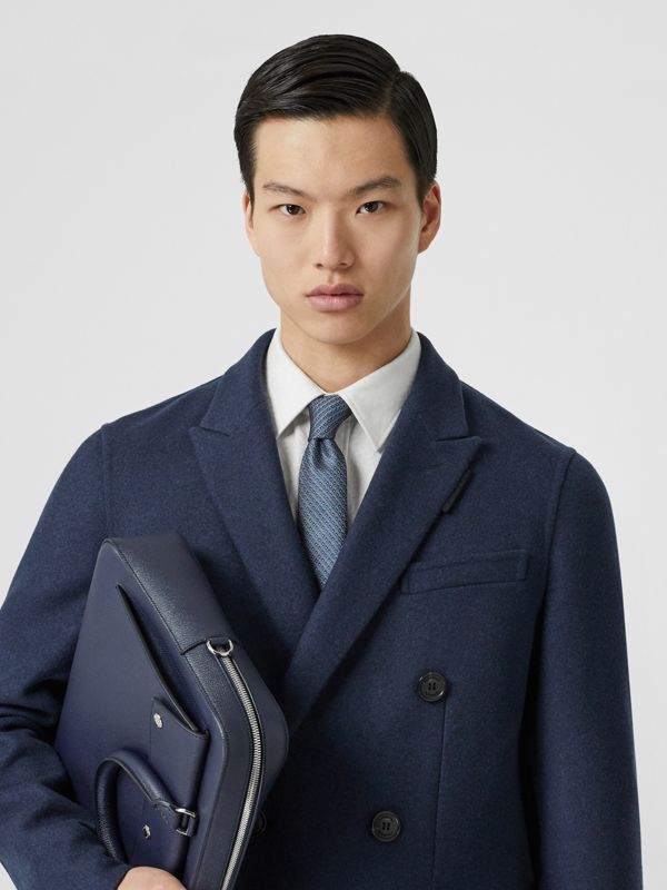 Classic Cut Micro Dot Silk Jacquard Tie in Porcelain Blue - Men | Burberry Singapore - cell image 2