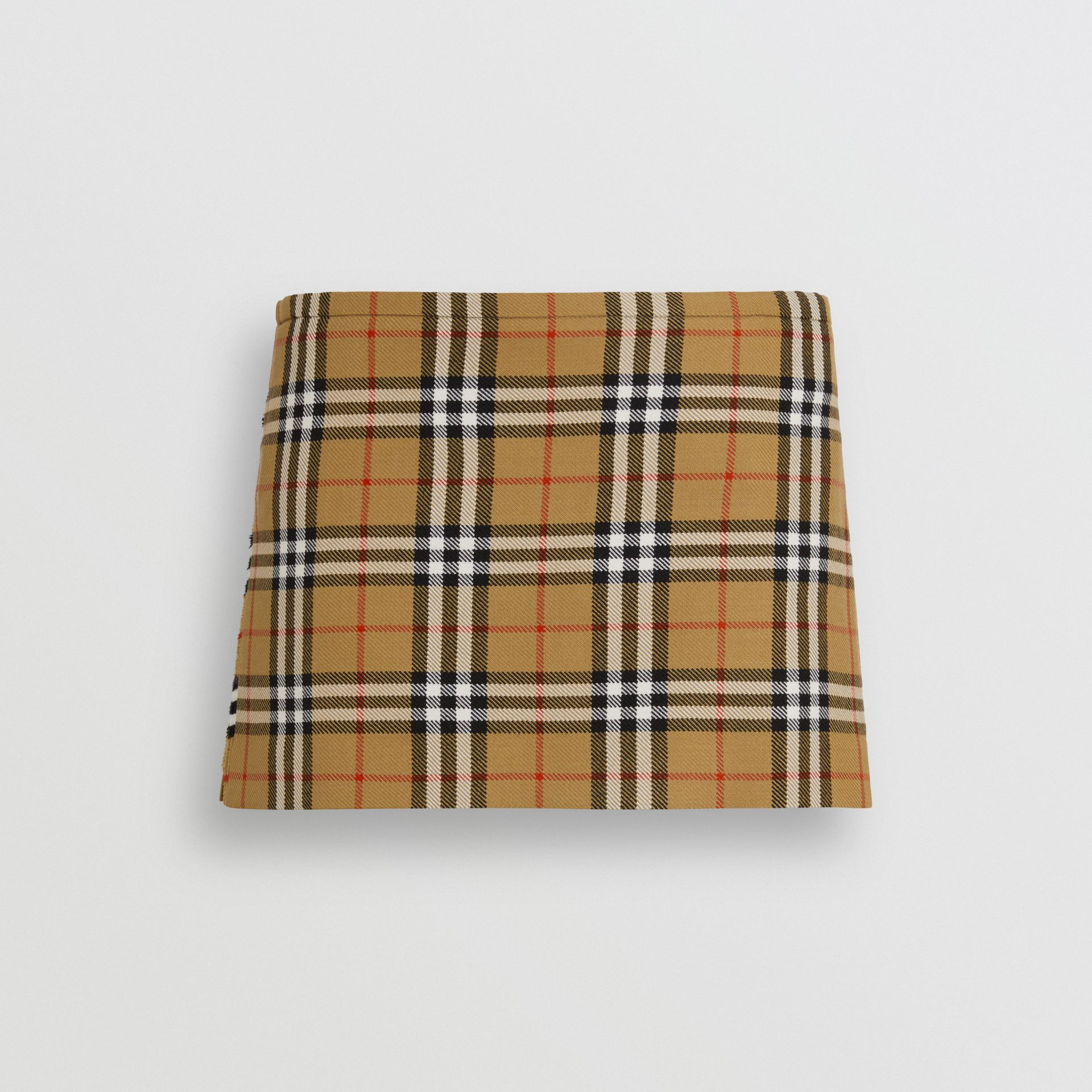 Vintage Check Wool Mini Kilt in Antique Yellow | Burberry - gallery image 3