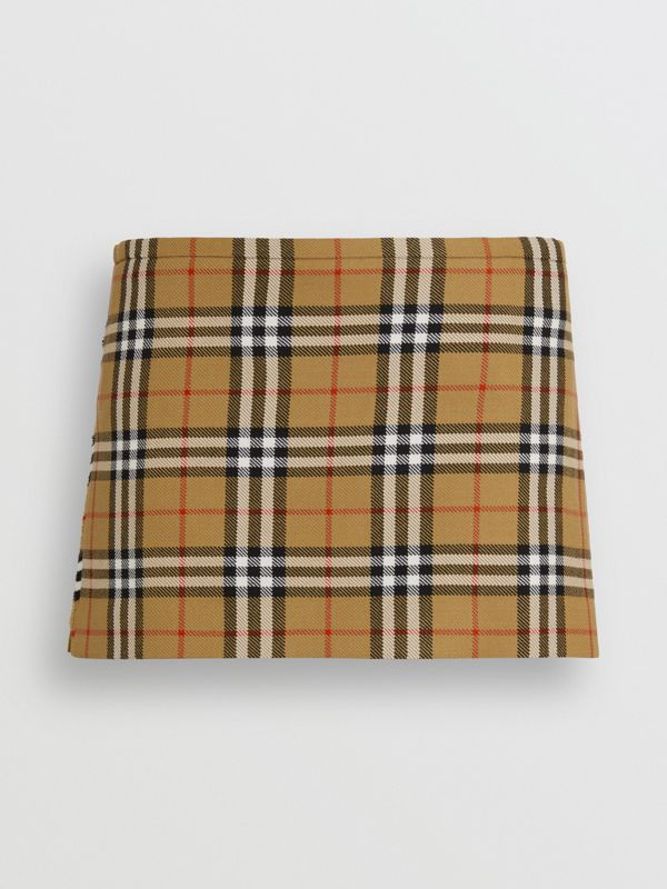 Vintage Check Wool Mini Kilt in Antique Yellow | Burberry Singapore - cell image 3