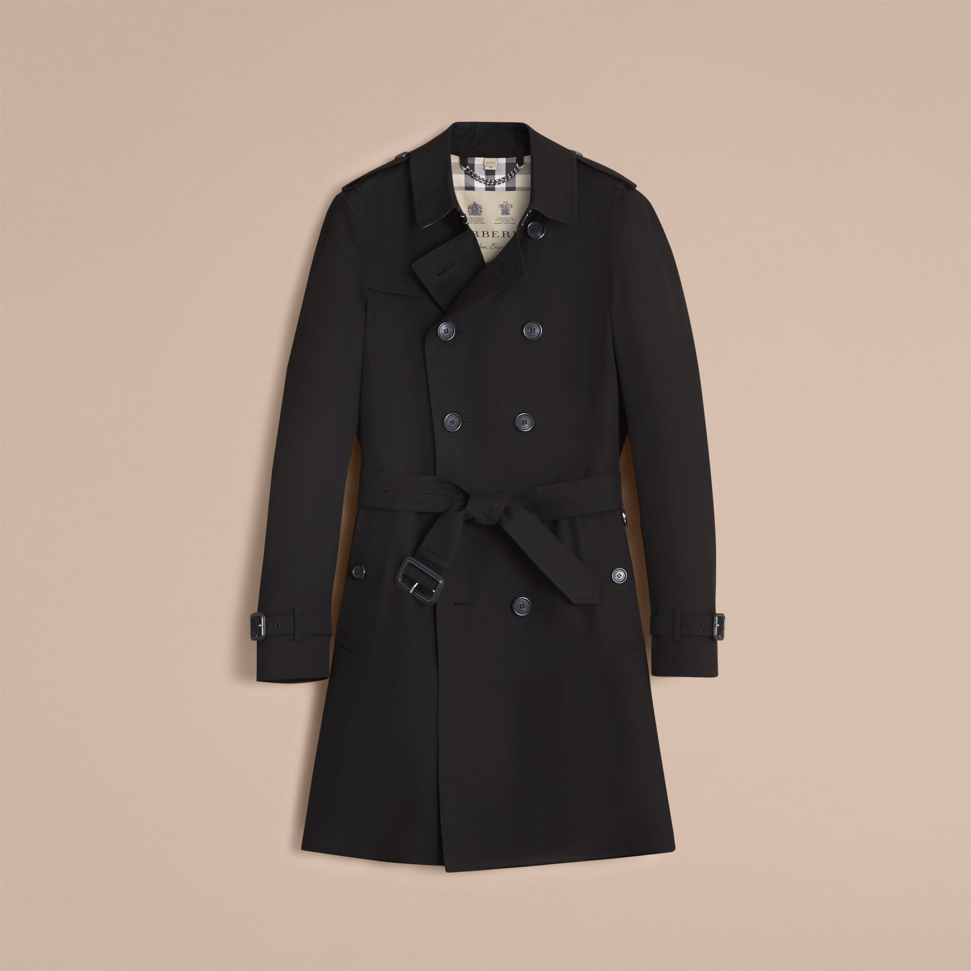 The Chelsea – Long Heritage Trench Coat in Black - gallery image 4
