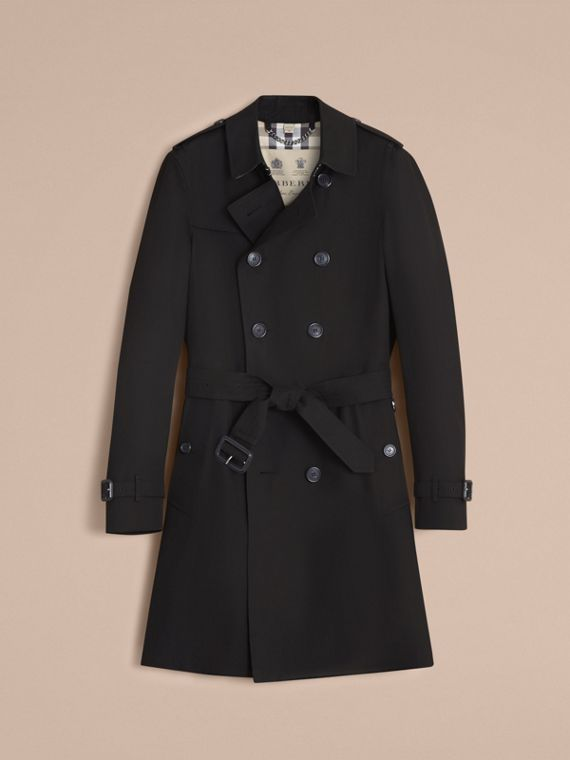 The Chelsea – Long Heritage Trench Coat in Black - cell image 3