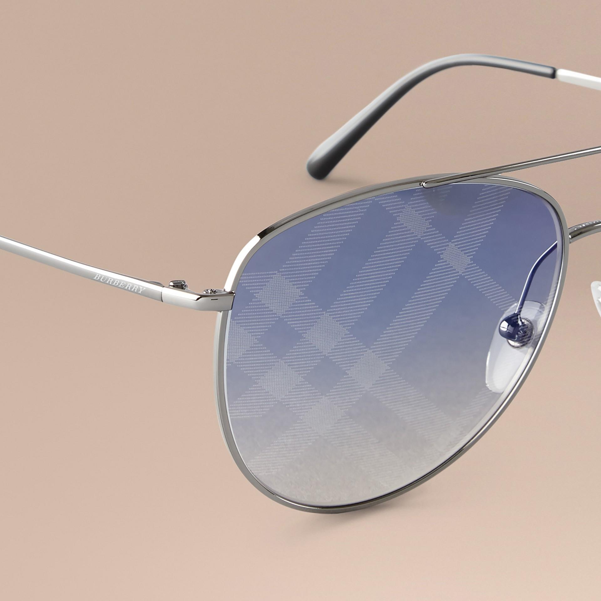 Check Lens Aviator Sunglasses - gallery image 3