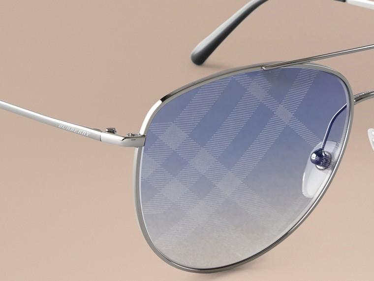 Check Lens Aviator Sunglasses - cell image 2