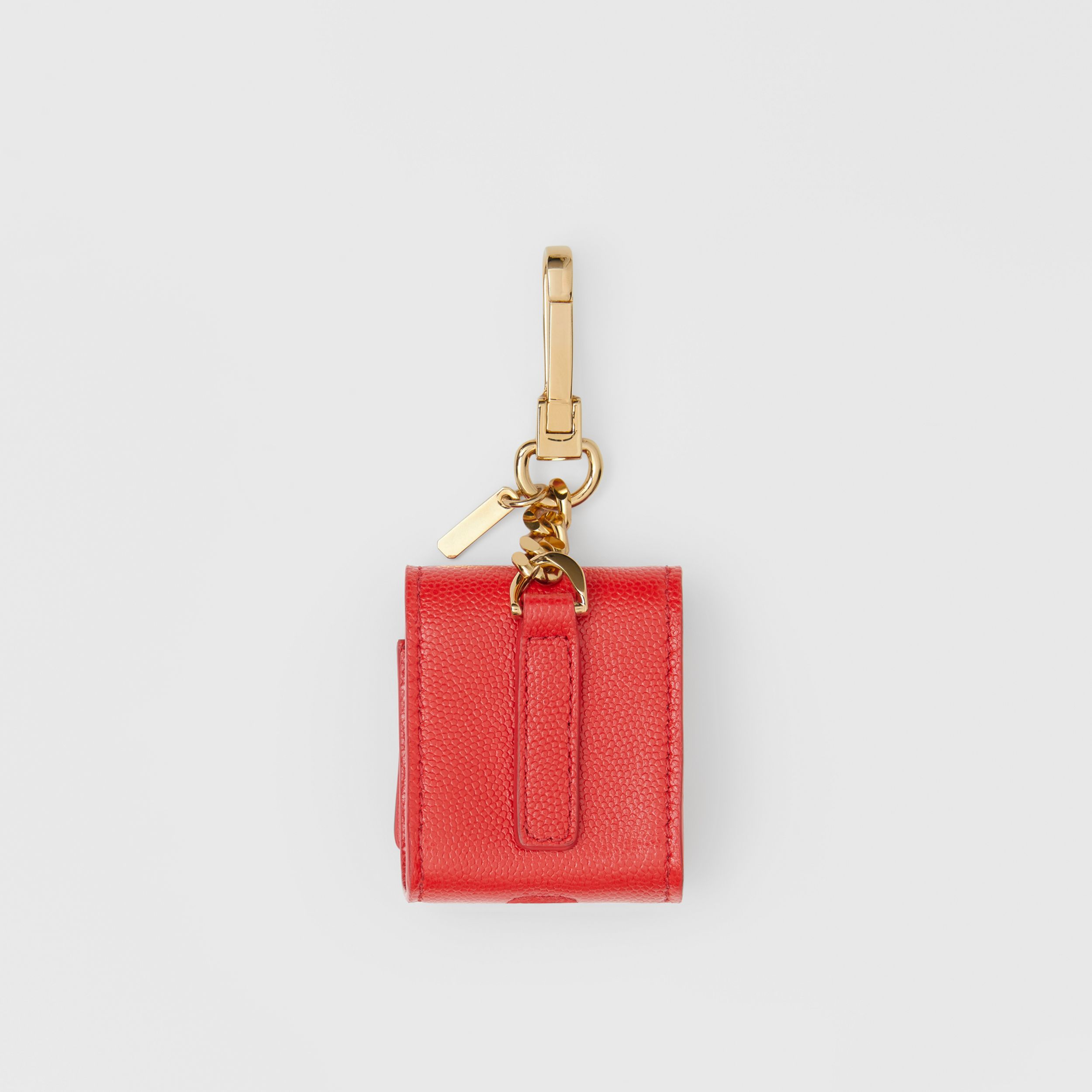 Grainy Leather AirPods Case in Bright Red | Burberry Australia - 4