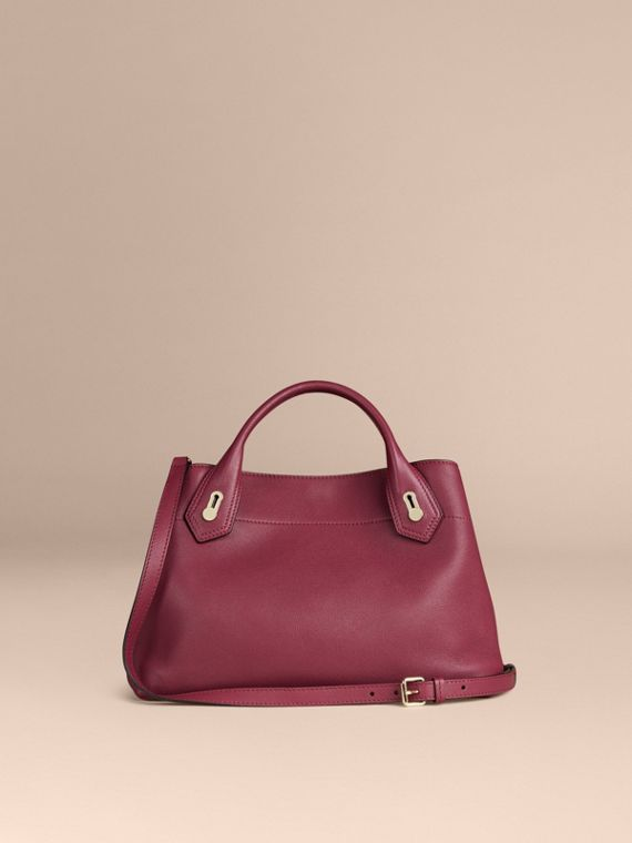 Dark plum The Medium Milton in Grainy Leather Dark Plum - cell image 3