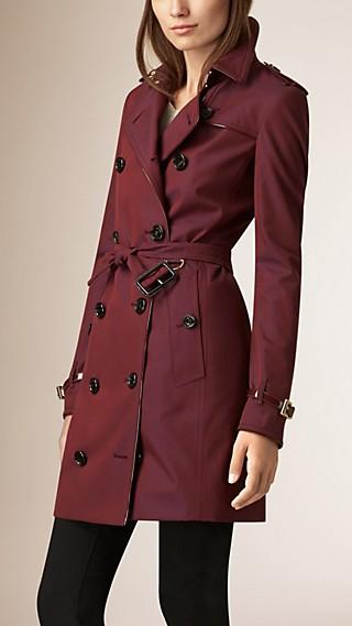 Patent Detail Cotton Gabardine Trench Coat
