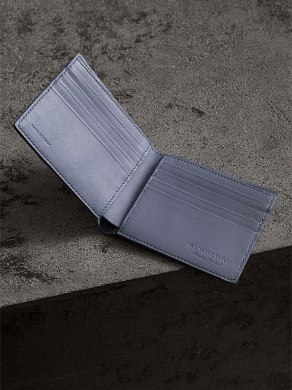 London Print Leather International Bifold Wallet in Multicolour - Men | Burberry Canada - cell image 3
