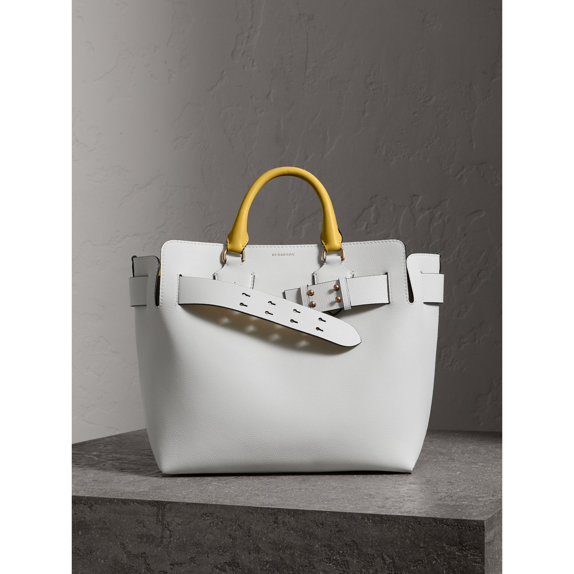 The Medium Leather Belt Bag in Chalk White/yellow - Women | Burberry United Kingdom - gallery image 4