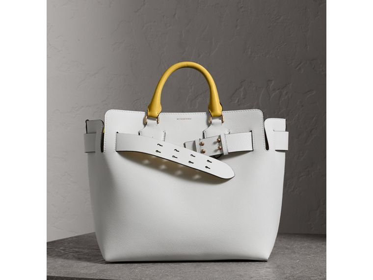 The Medium Leather Belt Bag in Chalk White/yellow - Women | Burberry United States - cell image 4