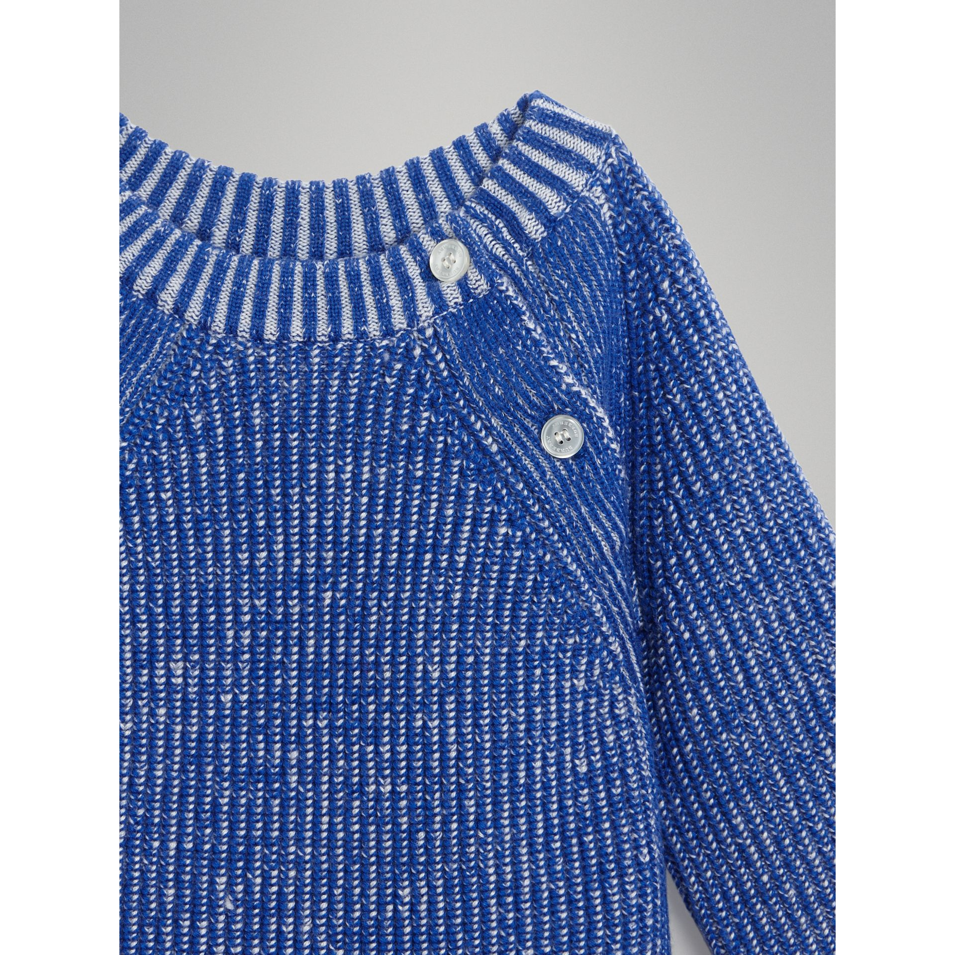 Rib Knit Merino Wool Sweater in Cerulean Blue - Children | Burberry - gallery image 4