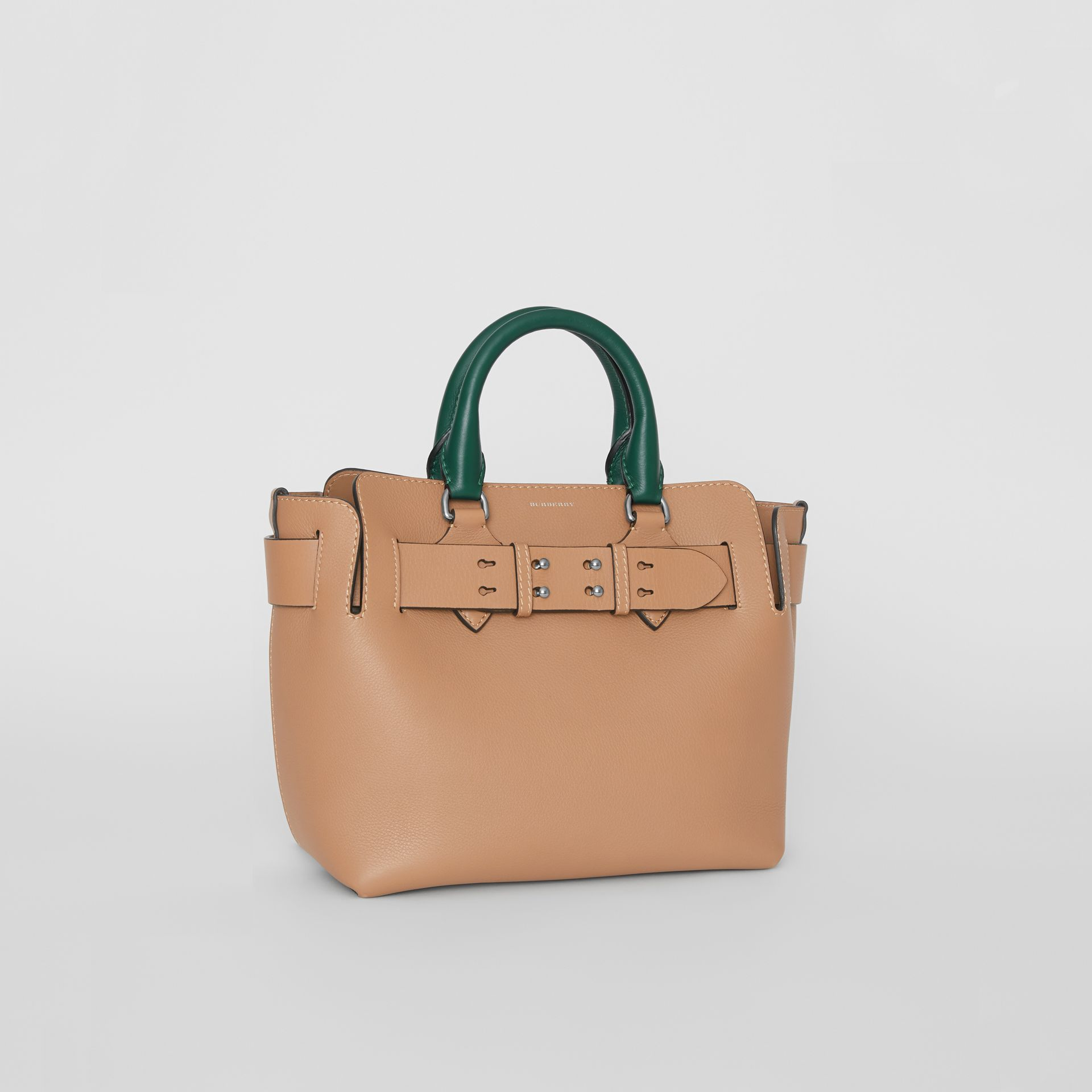 The Small Tri-tone Leather Belt Bag in Light Camel - Women | Burberry United Kingdom - gallery image 5