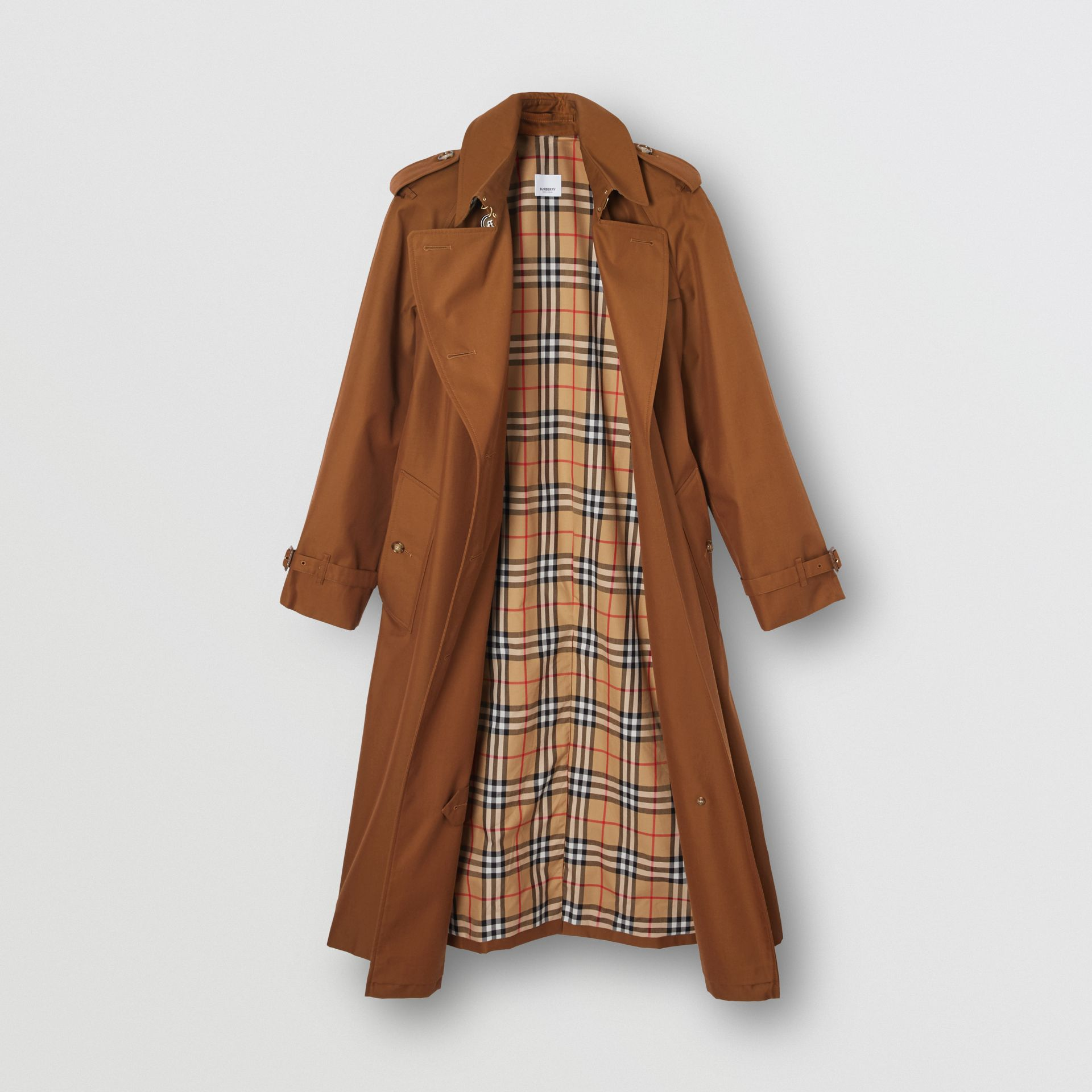 The Waterloo Heritage Trench Coat in Chestnut Brown - Women | Burberry - gallery image 8