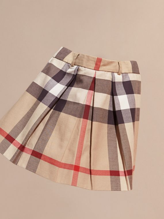 Pleated Check Cotton Skirt New Classic - cell image 2