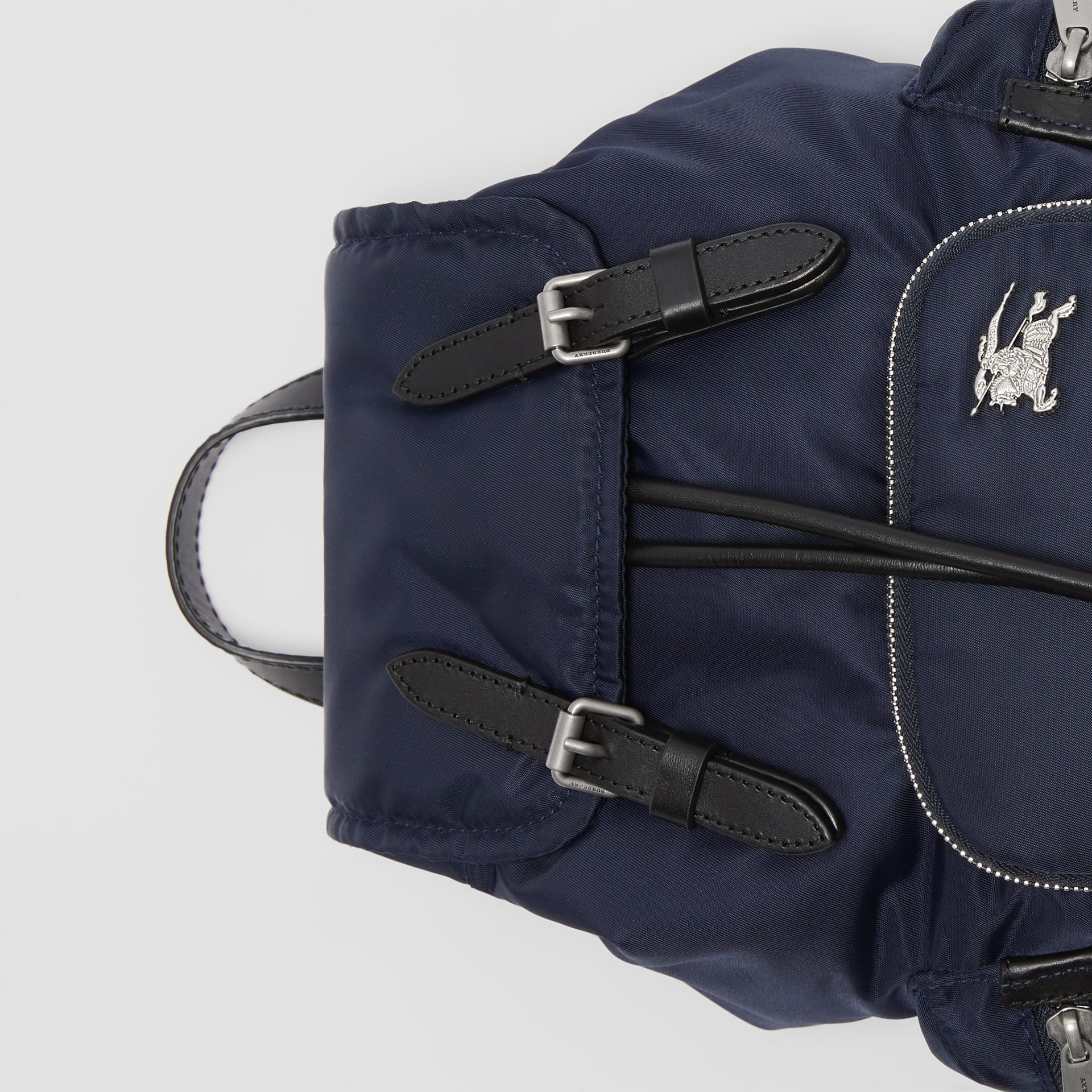 The Small Crossbody Rucksack in Puffer Nylon in Ink Blue - Women | Burberry - gallery image 1