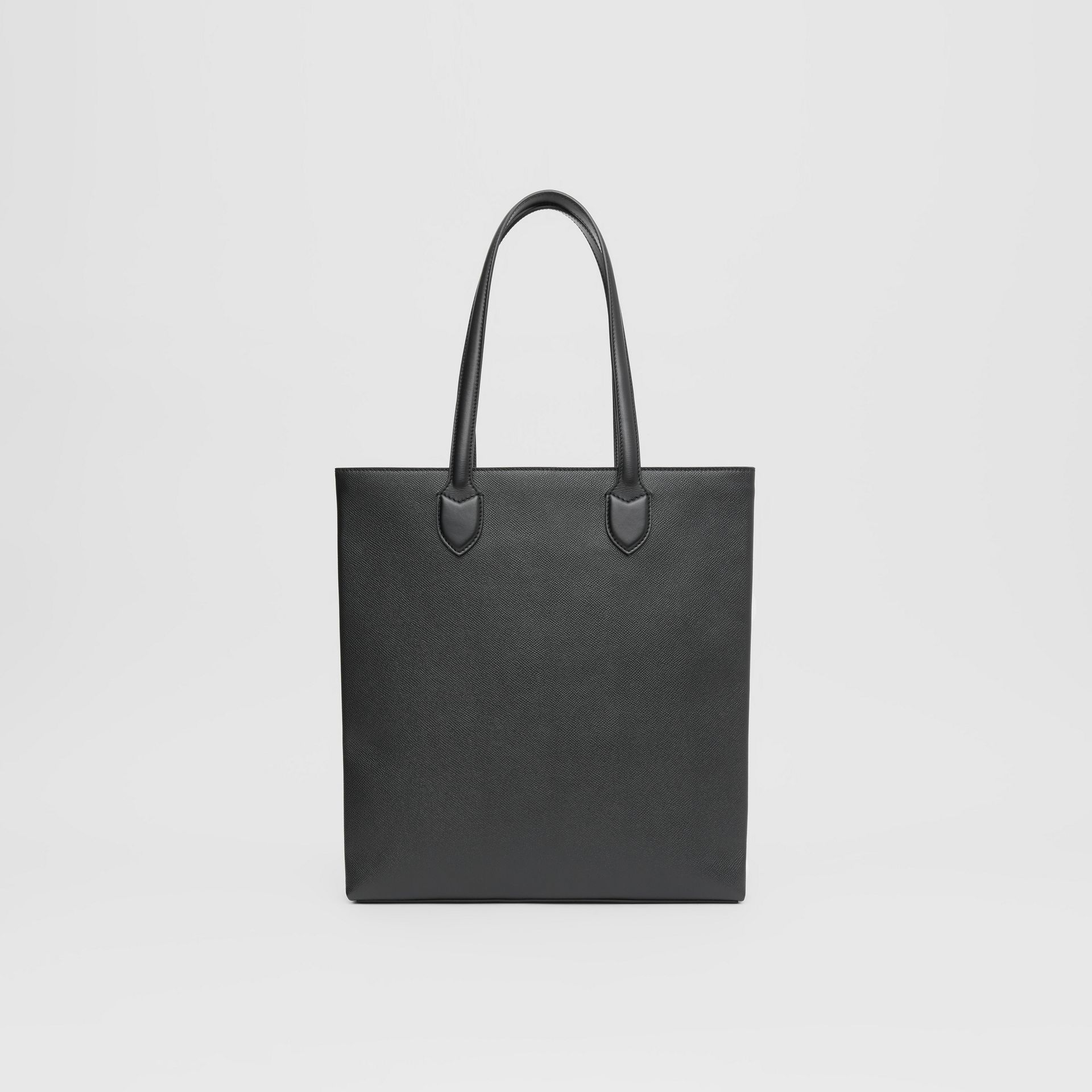 Medium Grainy Leather Tote in Black - Men | Burberry - gallery image 7