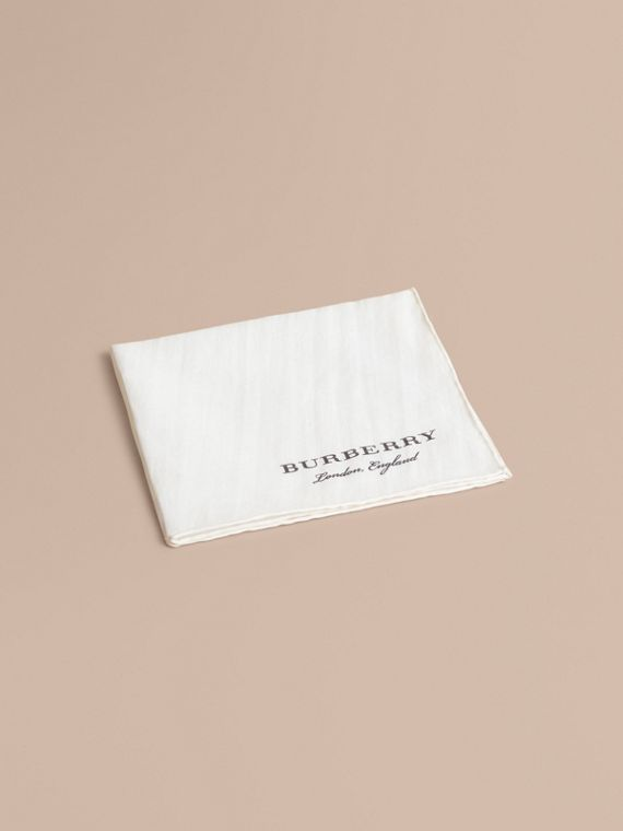 Cotton Silk Pocket Square - Men | Burberry Canada