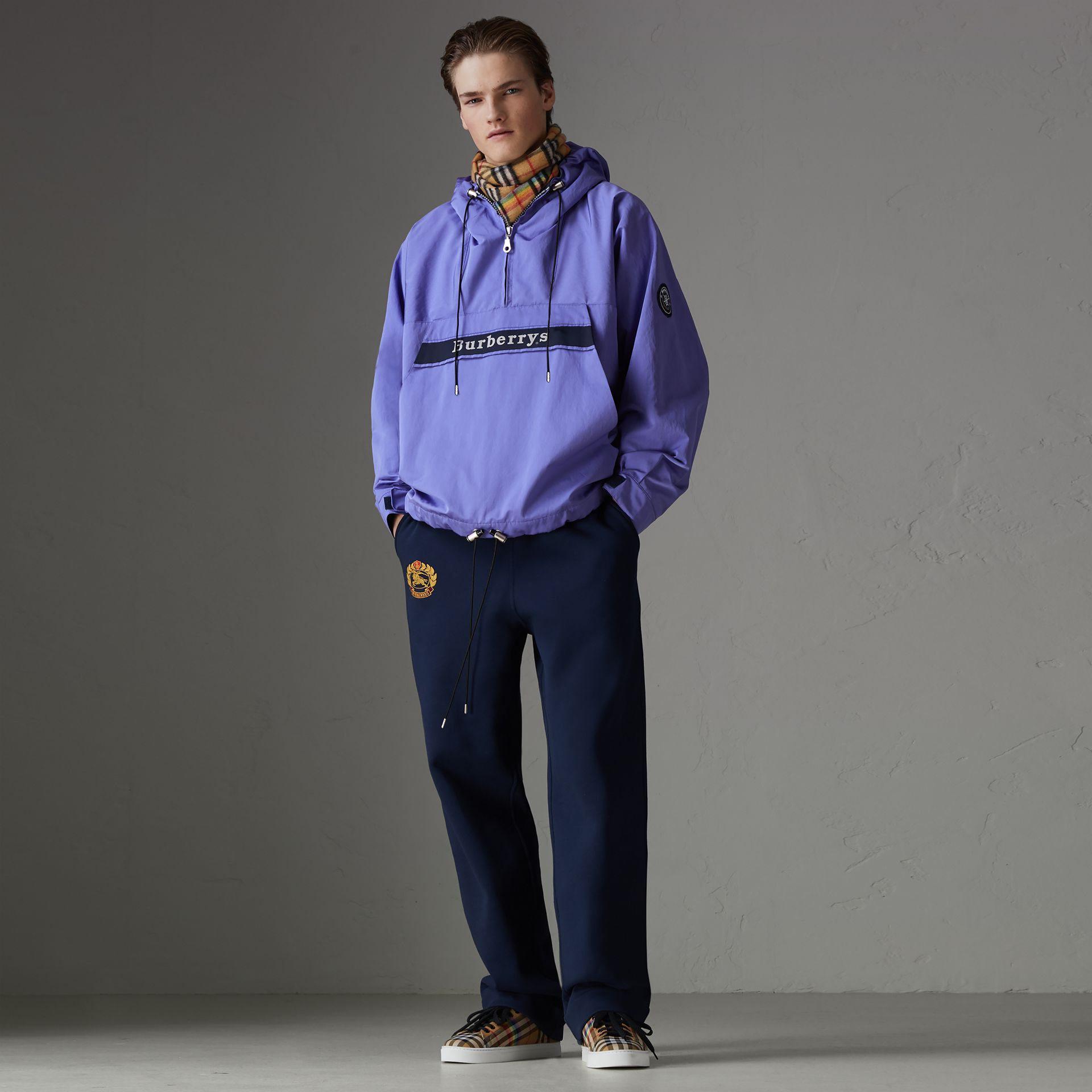 Reissued Hooded Anorak in Purple - Men | Burberry United States - gallery image 0