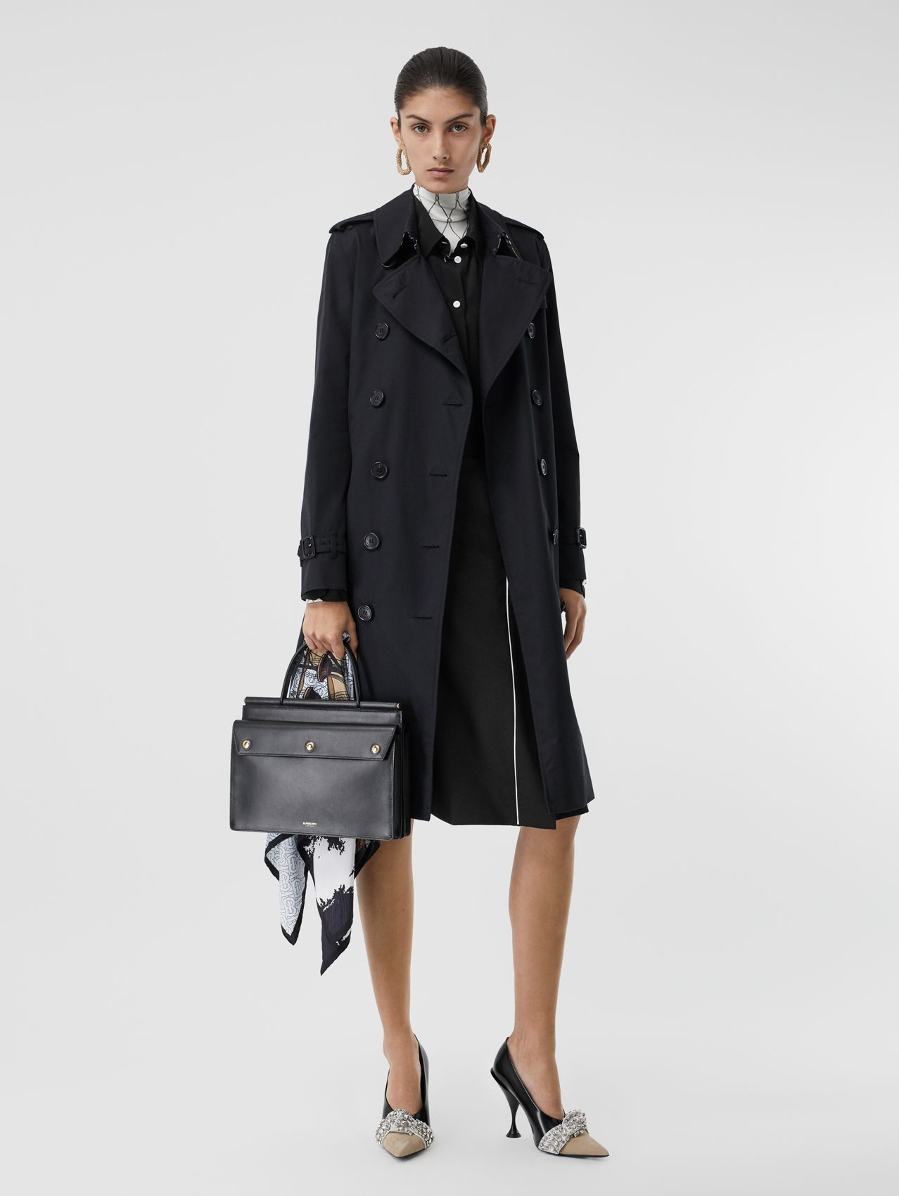 The Long Kensington Heritage Trench Coat in Midnight