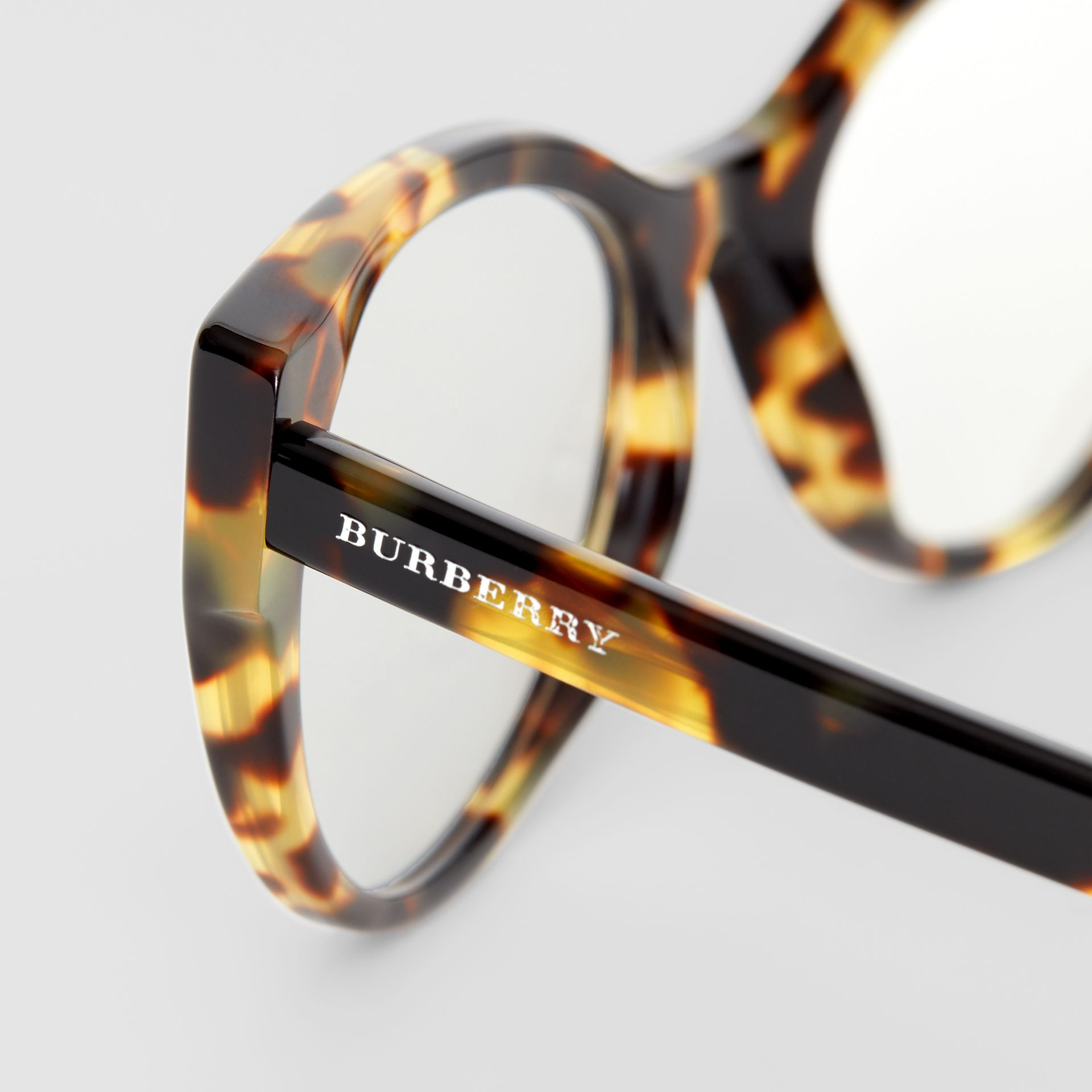 Cat-eye Optical Frames in Tortoise Shell - Women | Burberry - gallery image 1