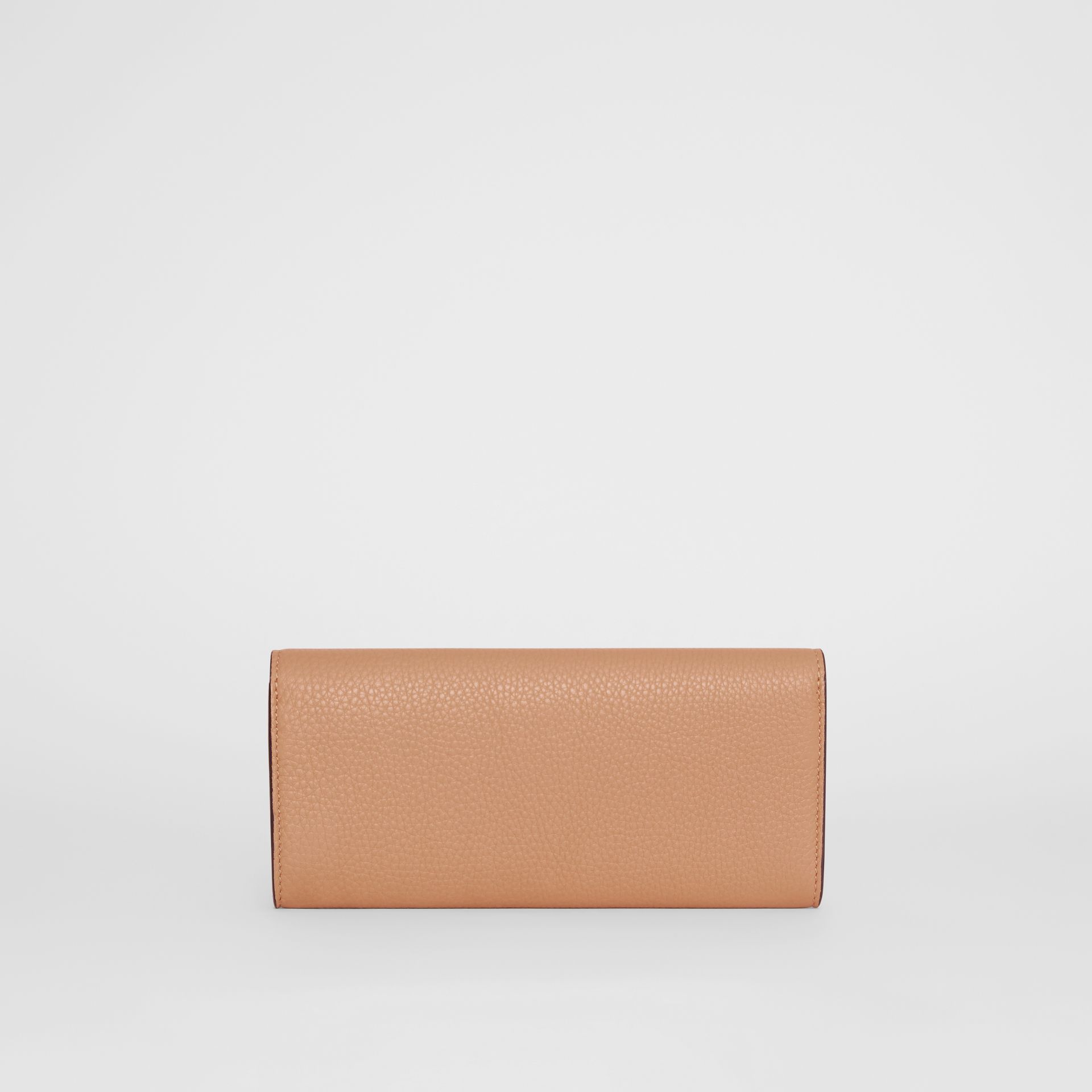 Portefeuille continental en cuir grainé (Camel Clair) - Femme | Burberry - photo de la galerie 5