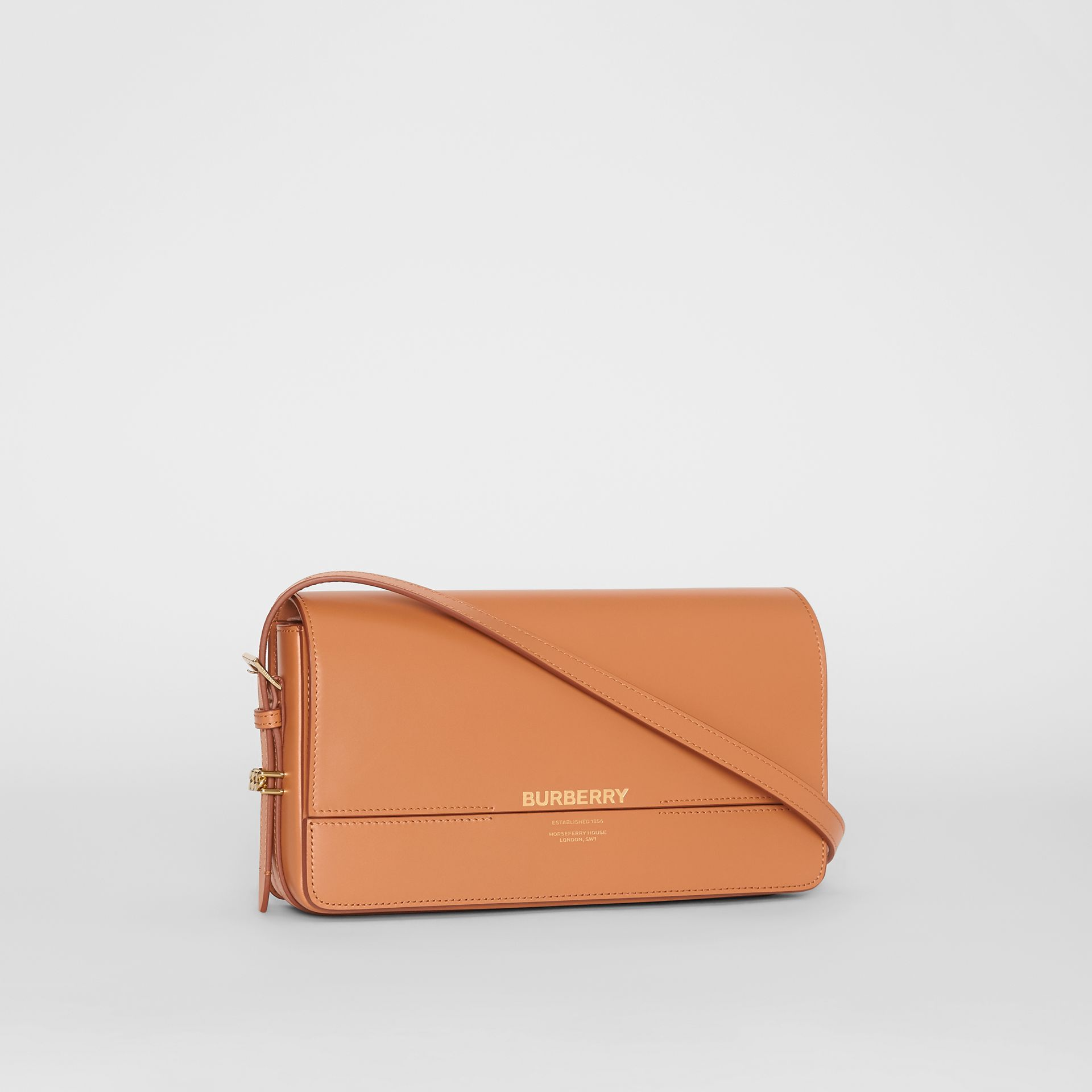 Mini Leather Grace Bag in Nutmeg - Women | Burberry - gallery image 6